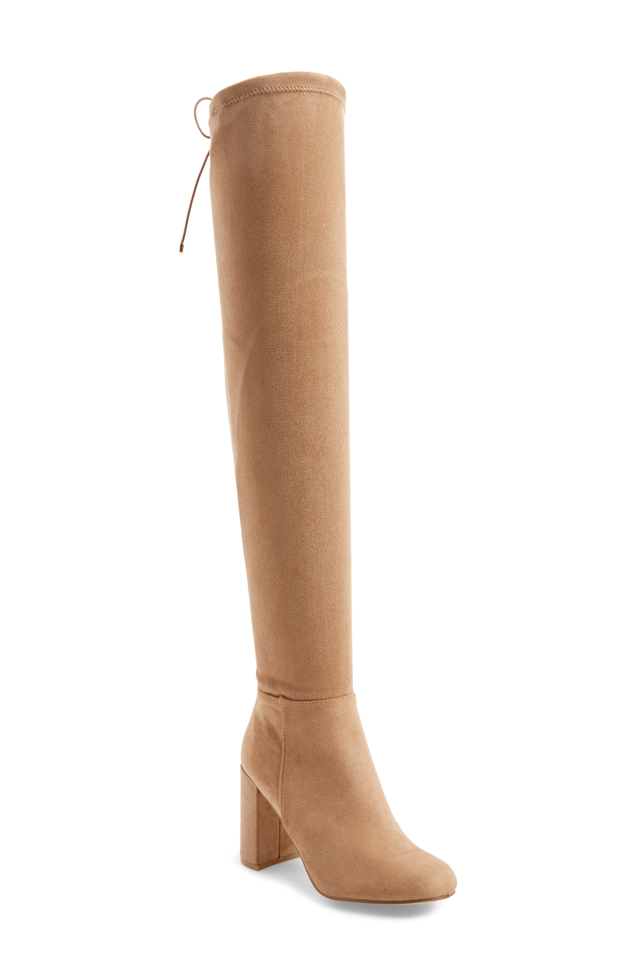 Krush Over the Knee Boot,                             Main thumbnail 1, color,                             Mink Suede