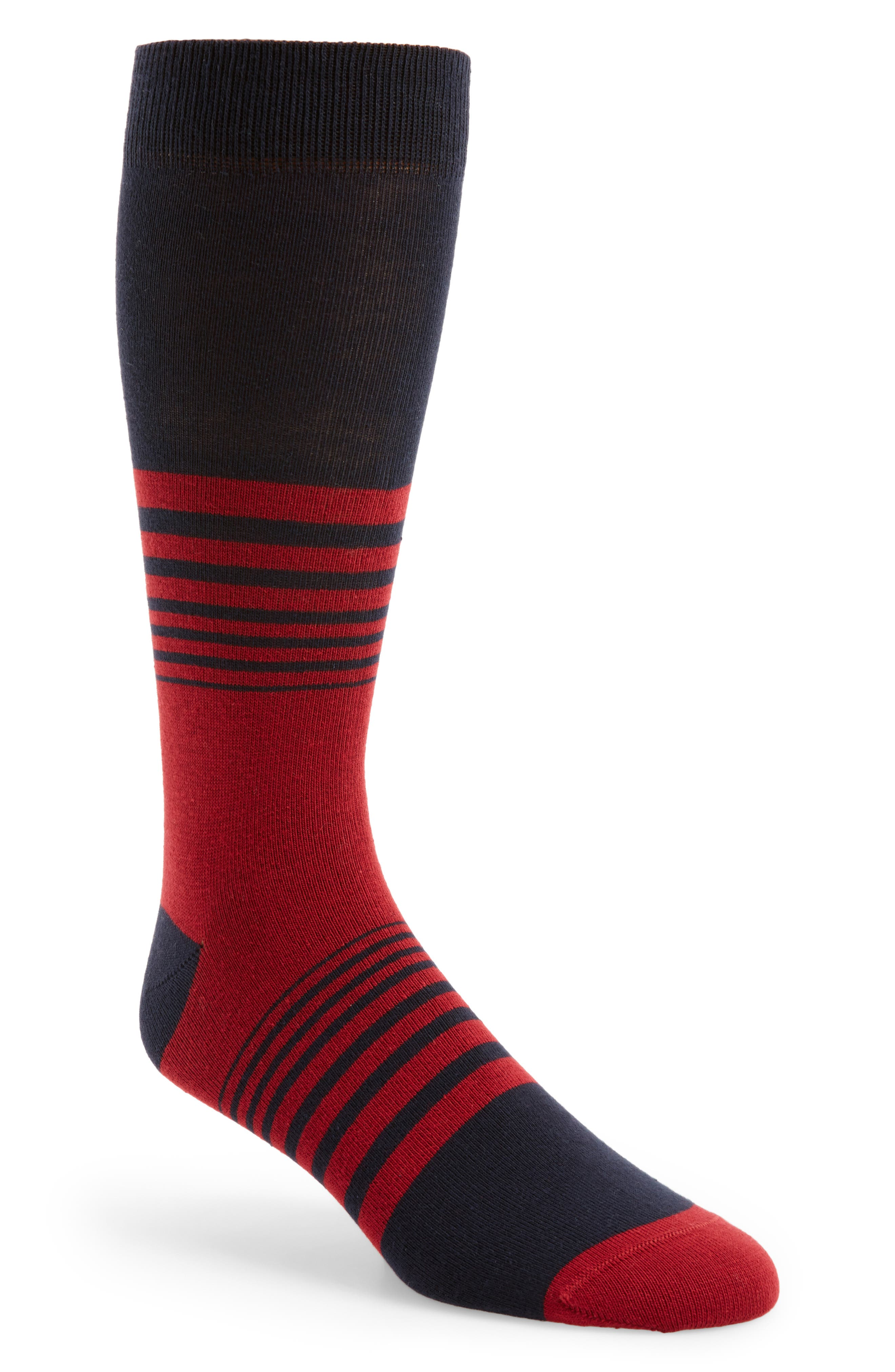 2a17e5ffb Ted Baker Striped Socks In Navy