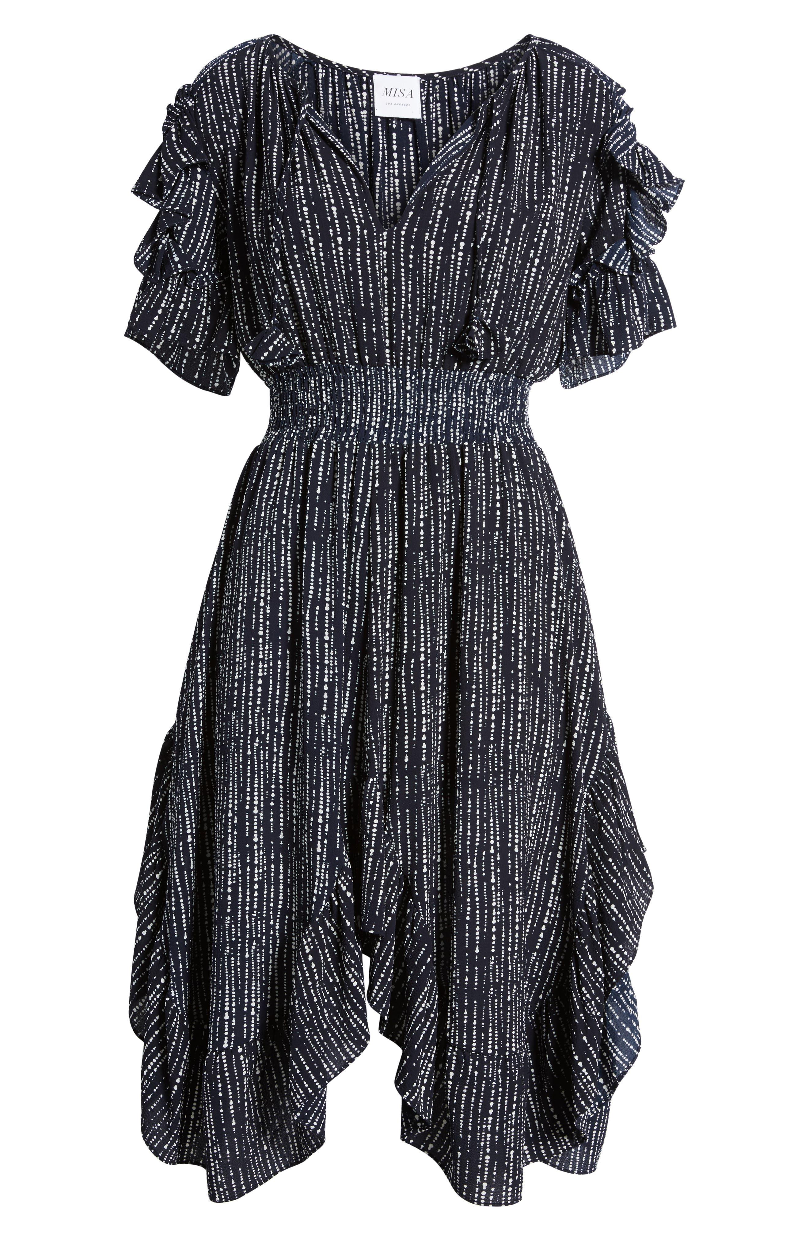 Alternate Image 6  - MISA Los Angeles Patricia High/Low Dress