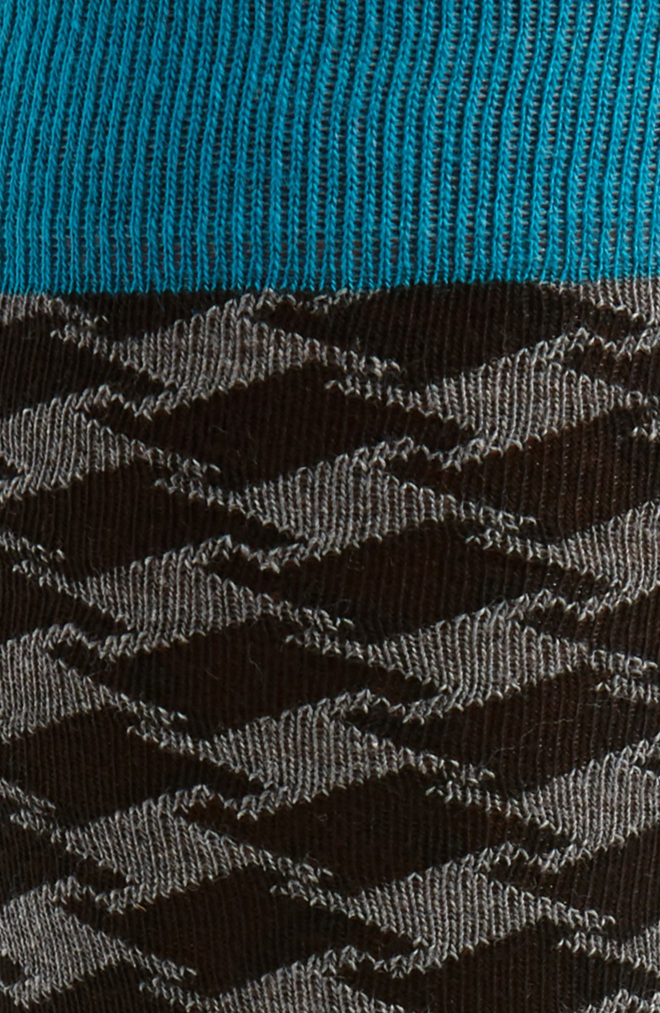 Houndstooth Socks,                             Alternate thumbnail 2, color,                             Teal