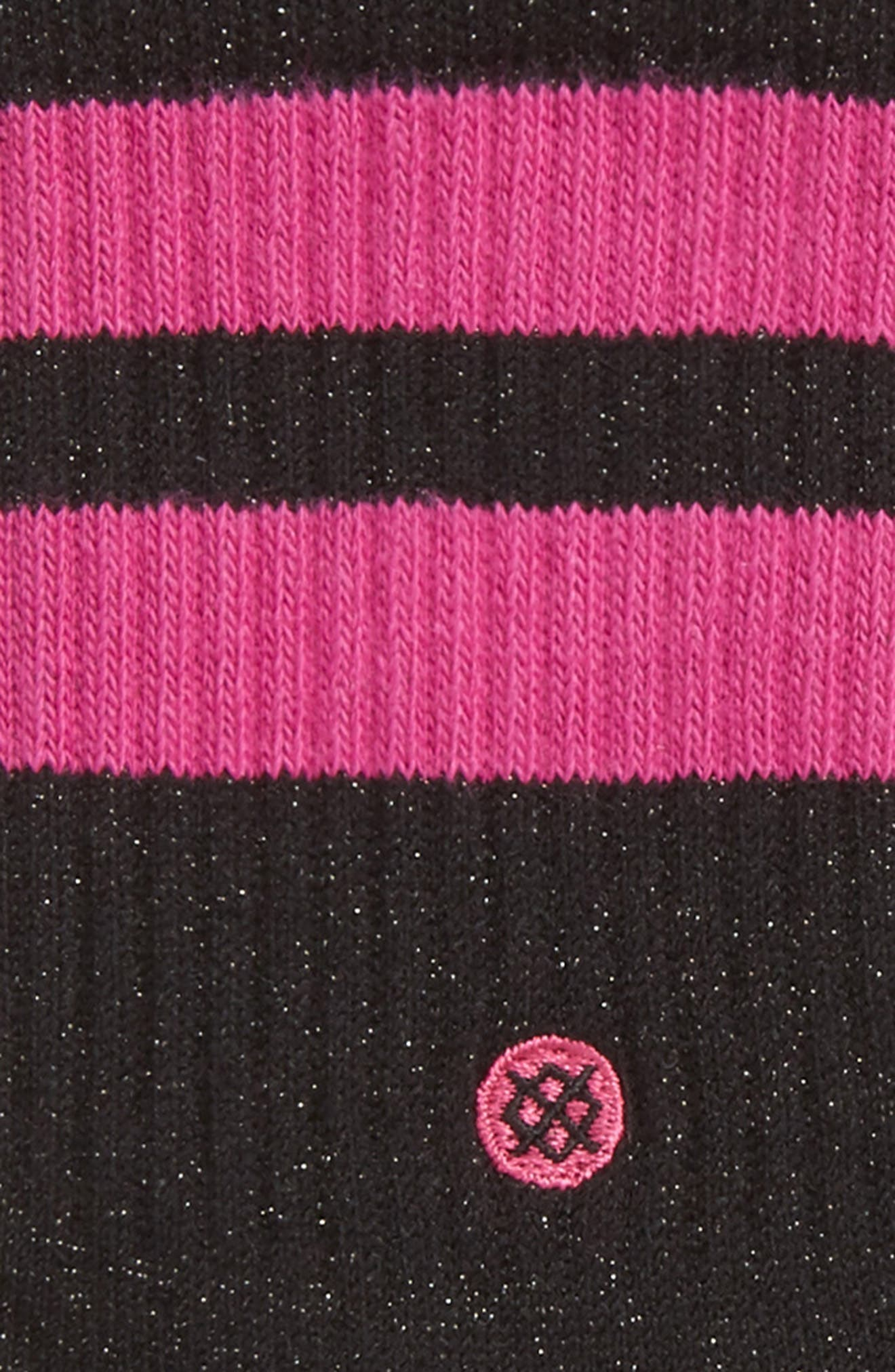 Harmony Crew Socks,                             Alternate thumbnail 2, color,                             Black