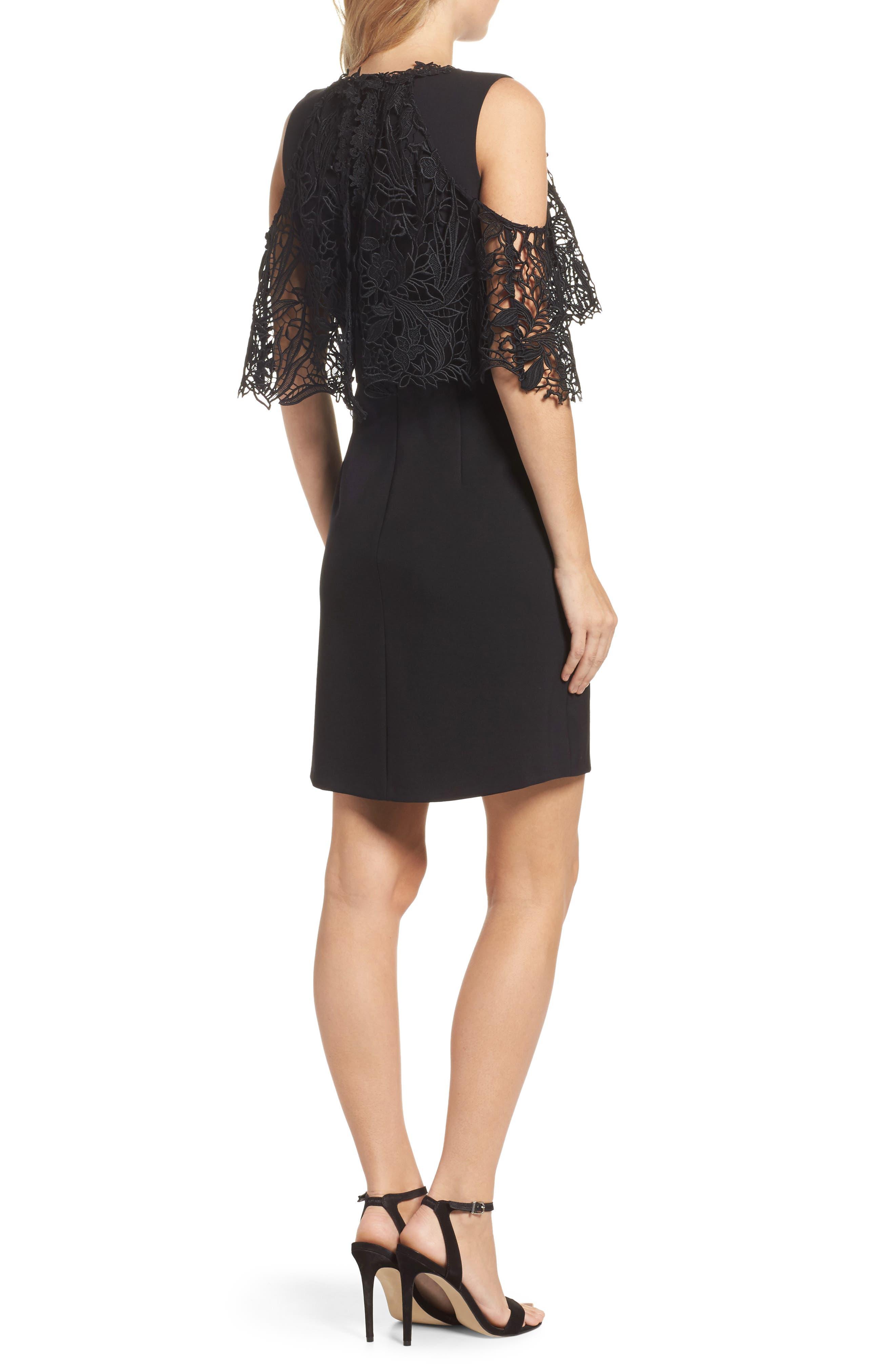 Kena Cold Shoulder Sheath Dress,                             Alternate thumbnail 2, color,                             Black