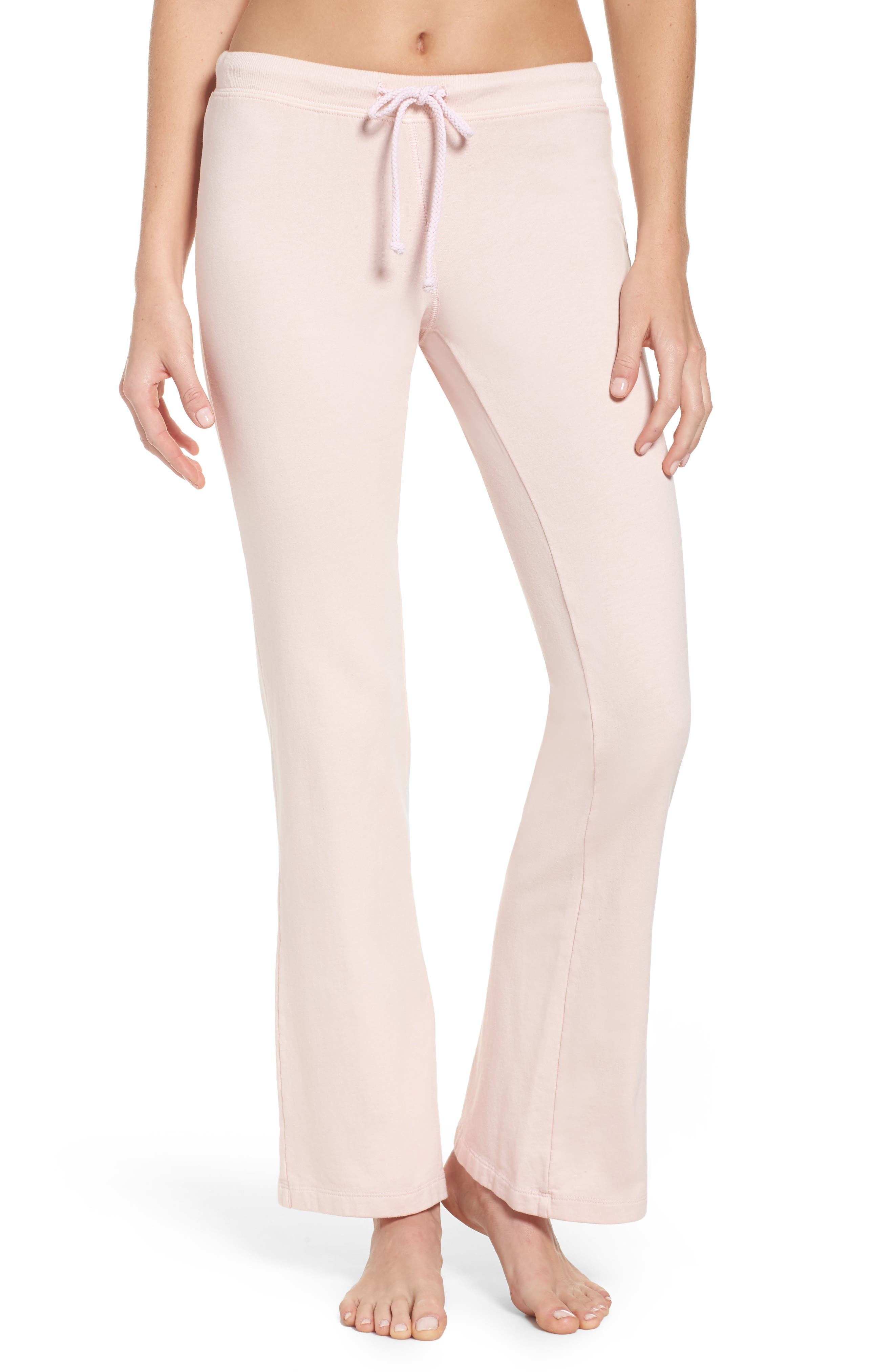 Alternate Image 1 Selected - LOVE+GRACE Fuzzy Flare Lounge Pants