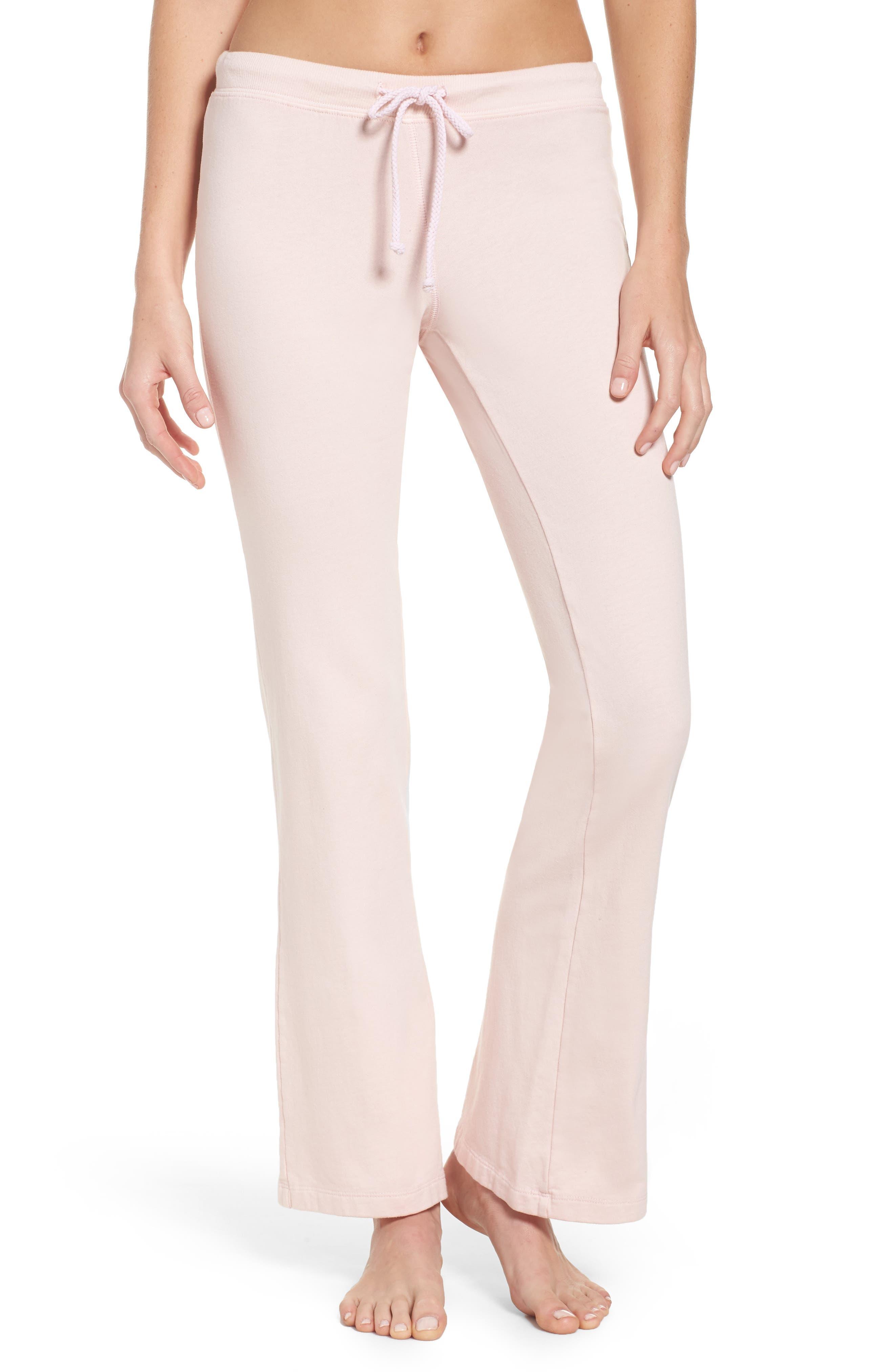 Fuzzy Flare Lounge Pants,                         Main,                         color, Rose Quartz