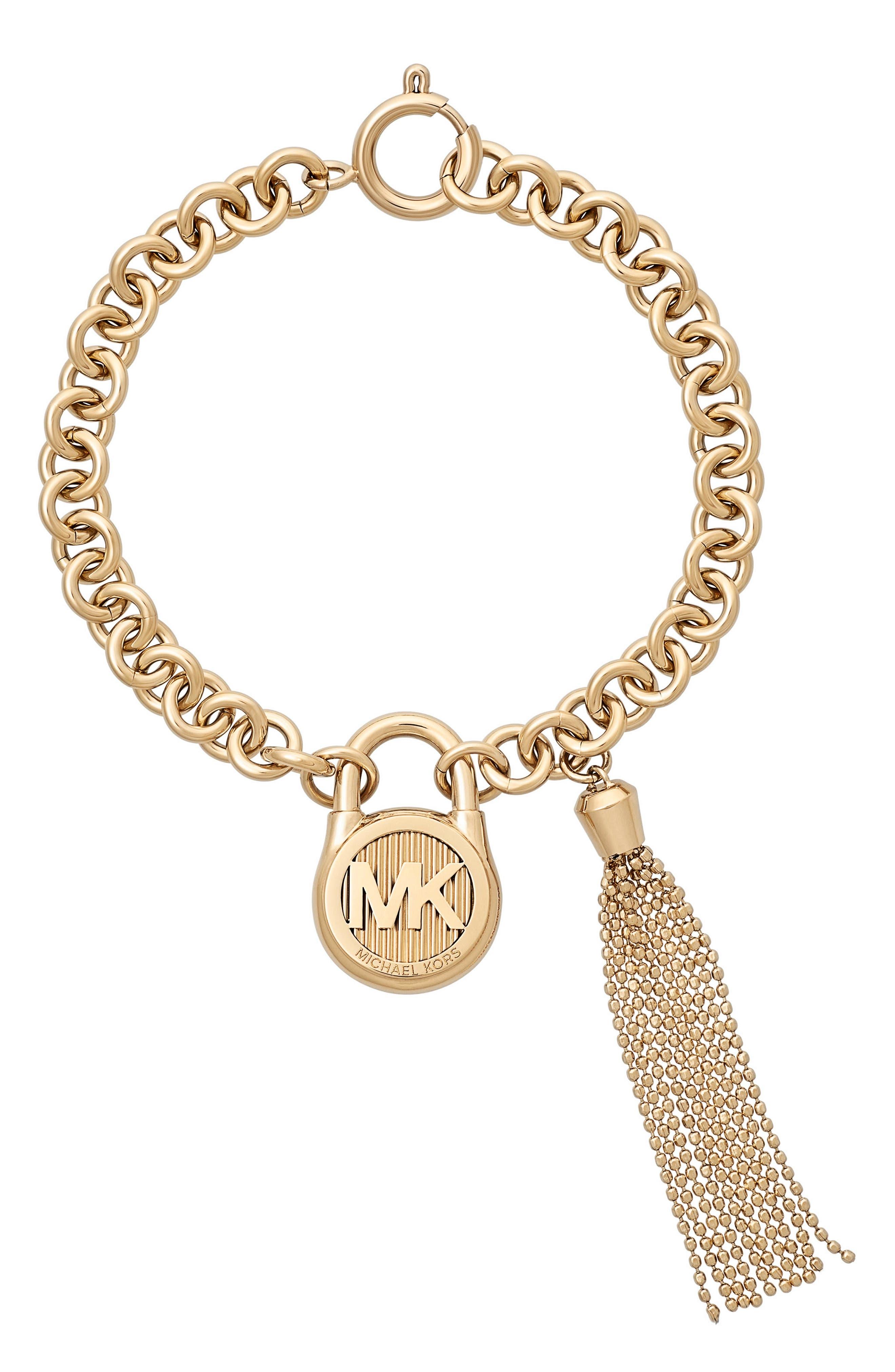 Alternate Image 1 Selected - Michael Kors Link Charm Bracelet