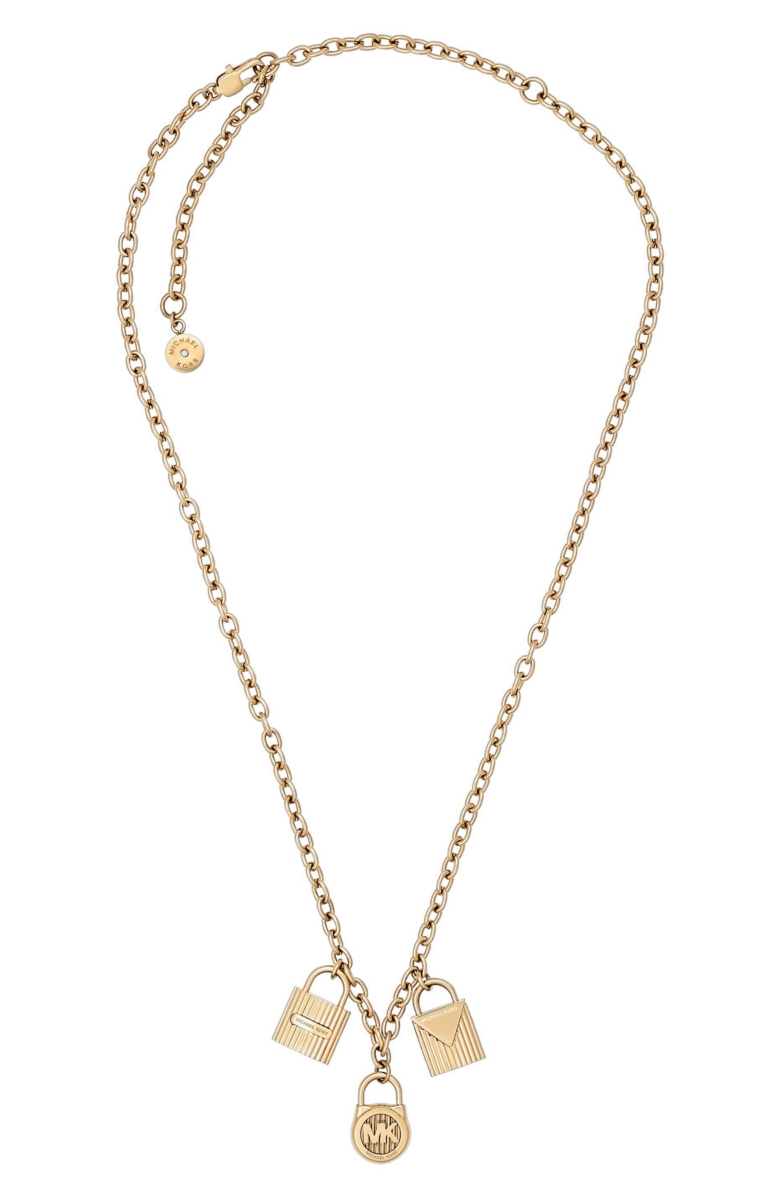 Alternate Image 1 Selected - Michael Kors Padlock Charm Pendant Necklace