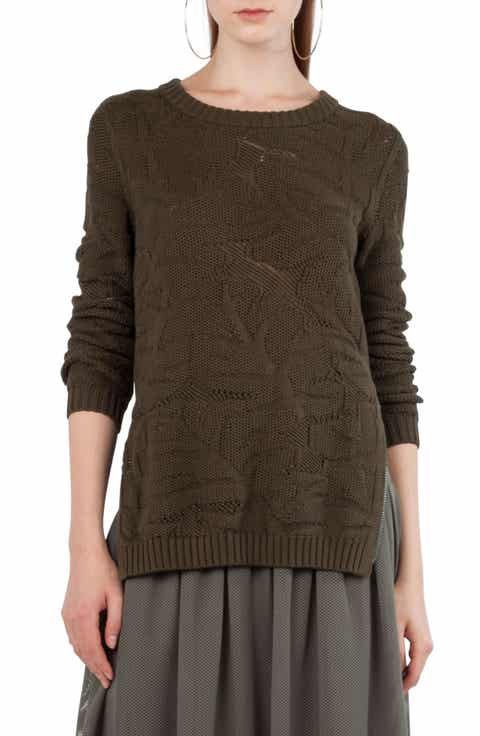 Akris punto Tropical Leaf Knit Pullover