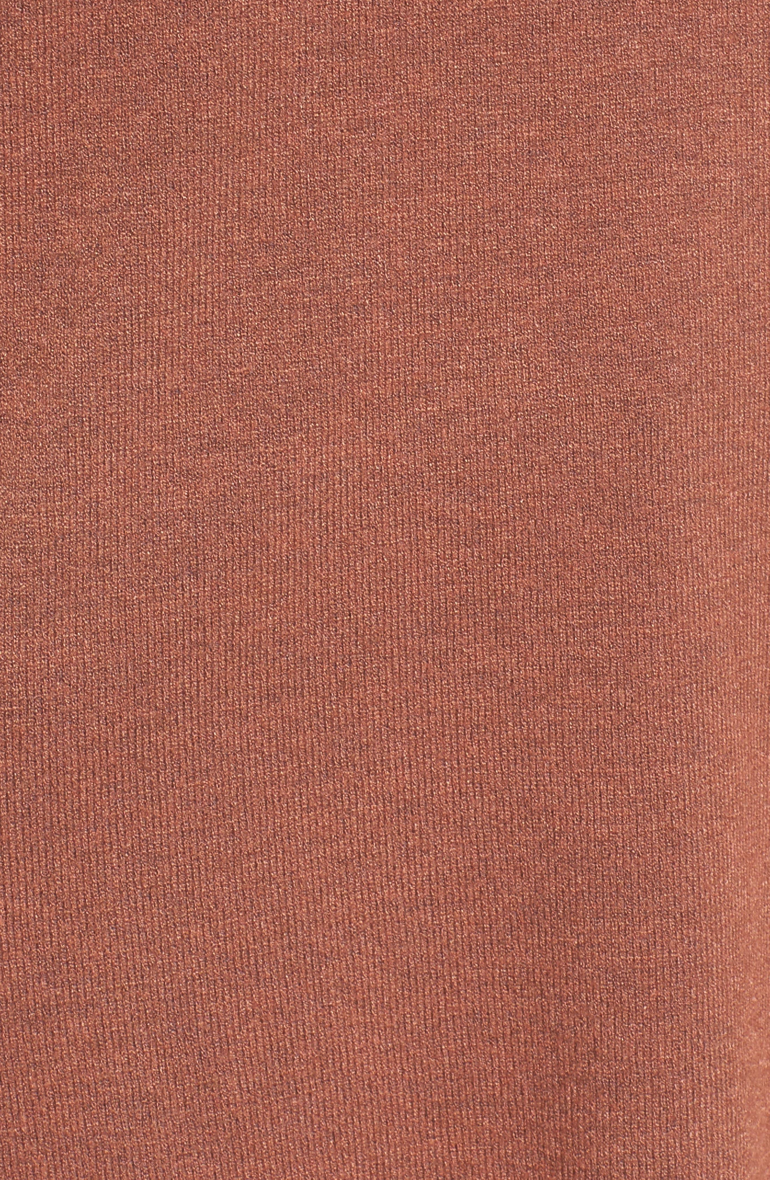 Laced Up V-Back Sweater,                             Alternate thumbnail 5, color,                             Ginger