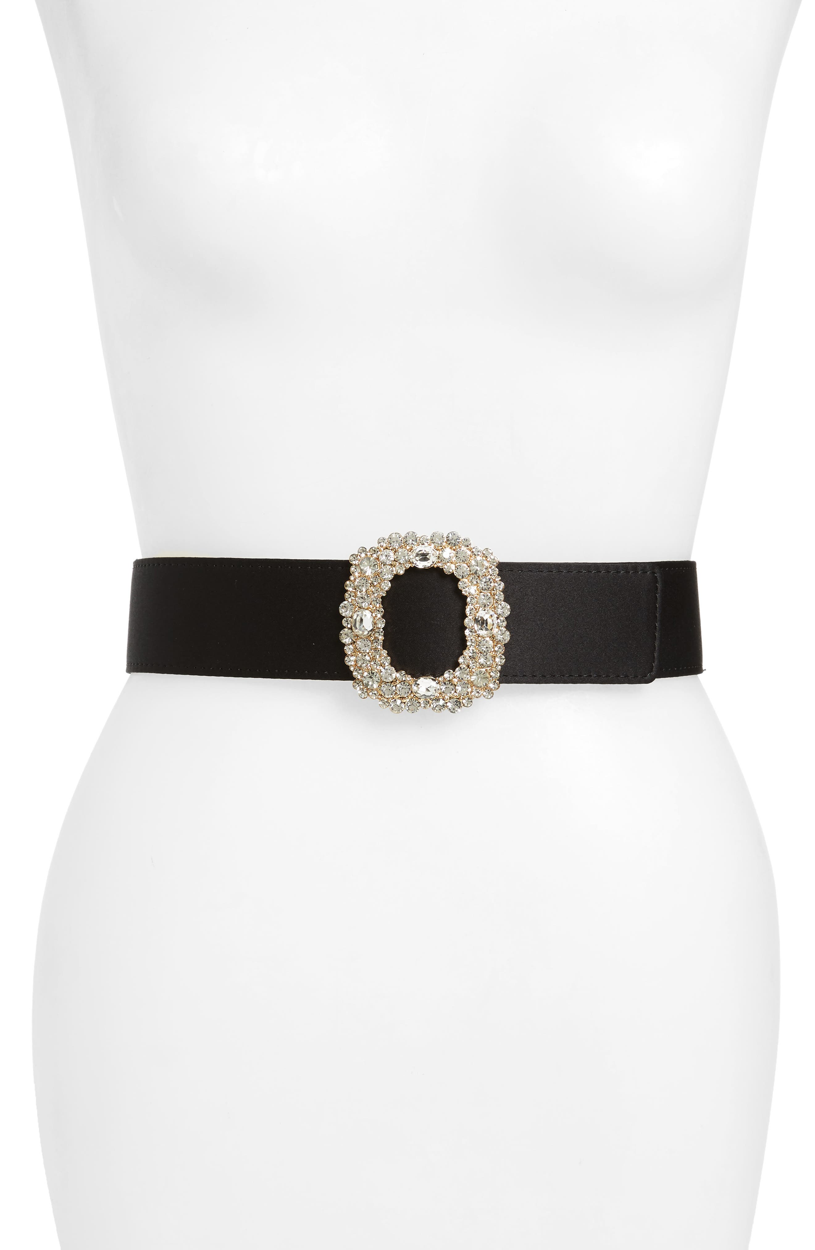 crystal pull-through belt,                         Main,                         color, Black