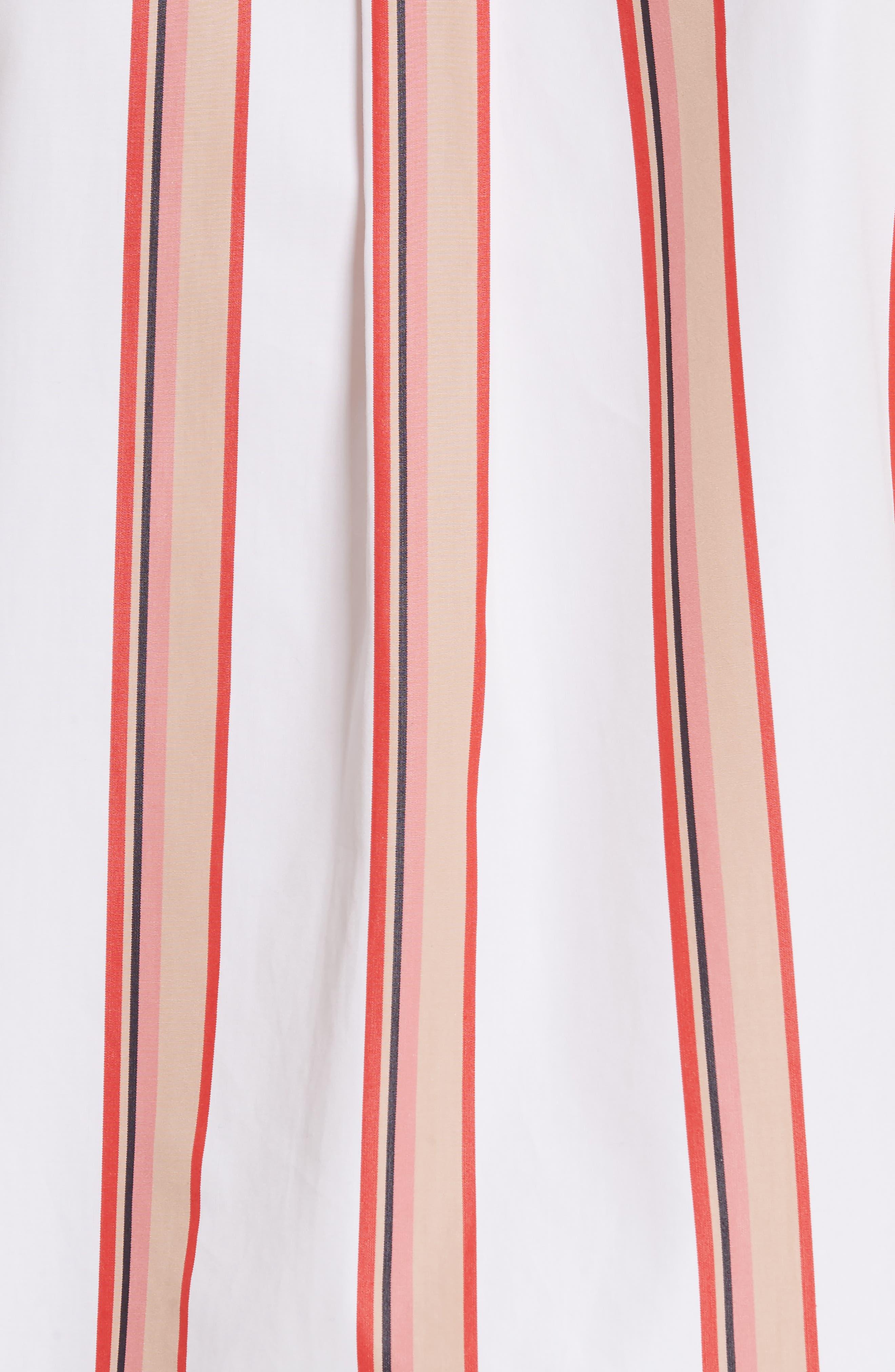 Stripe Shirt,                             Alternate thumbnail 5, color,                             Ivory Multi