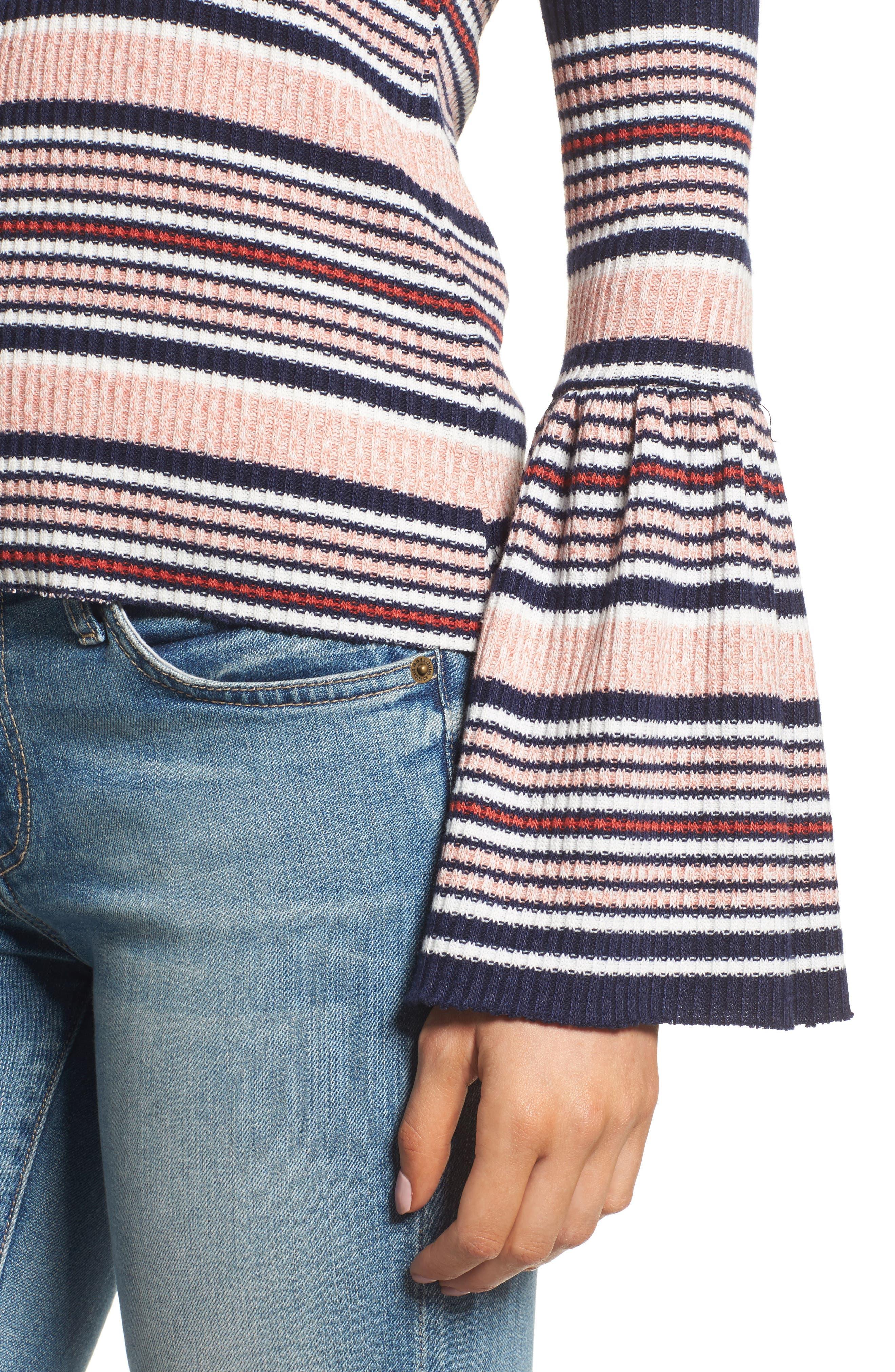 Alternate Image 4  - Splendid Stripe Bell Sleeve Tee