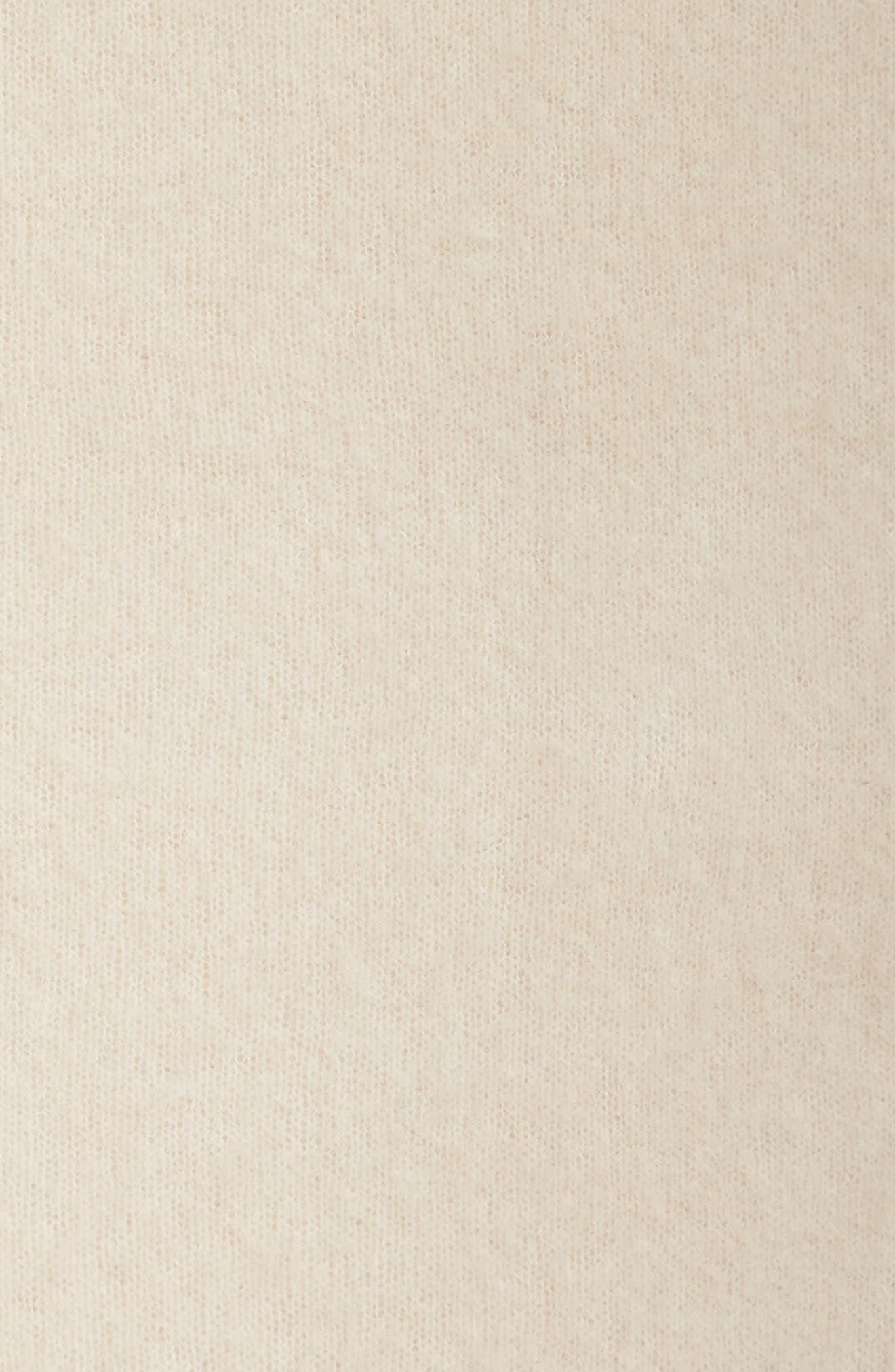 Cashmere Blend Cowl Scarf,                             Alternate thumbnail 4, color,                             Soft White