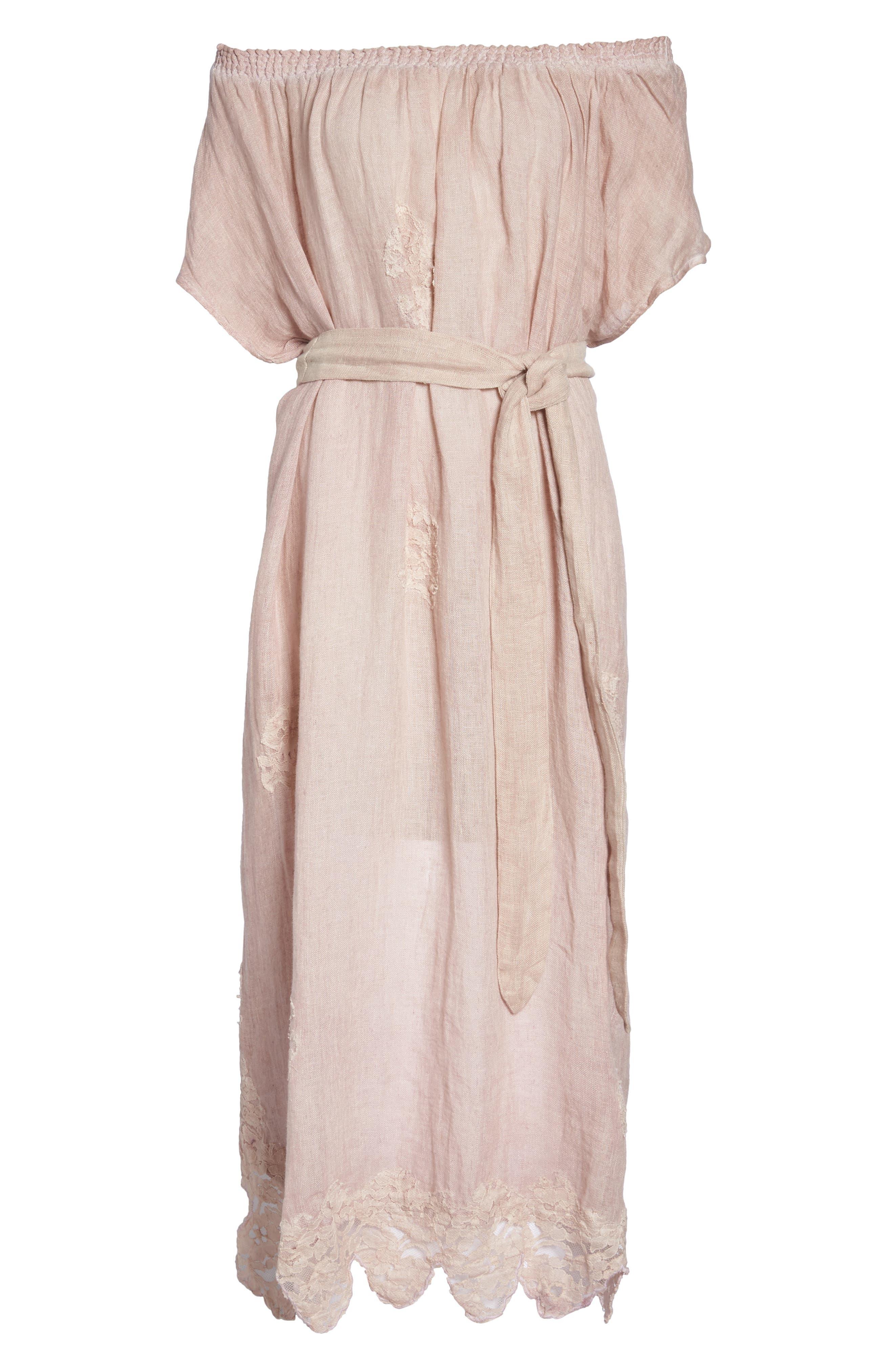 Alternate Image 6  - Muche et Muchette Daisy Linen Cover-Up Dress