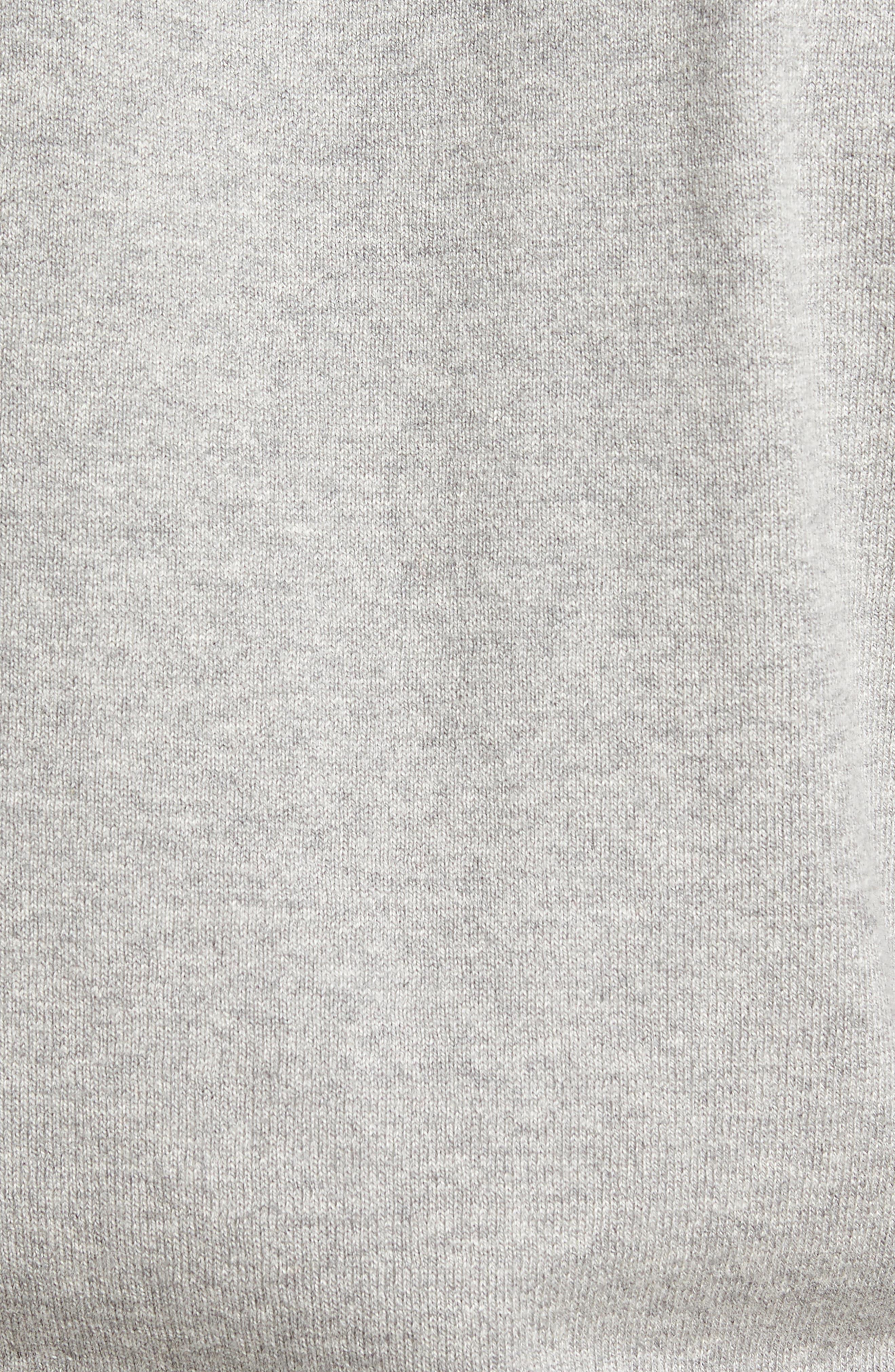 Saddle Shoulder Cotton & Cashmere Sweater,                             Alternate thumbnail 5, color,                             Grey Heather