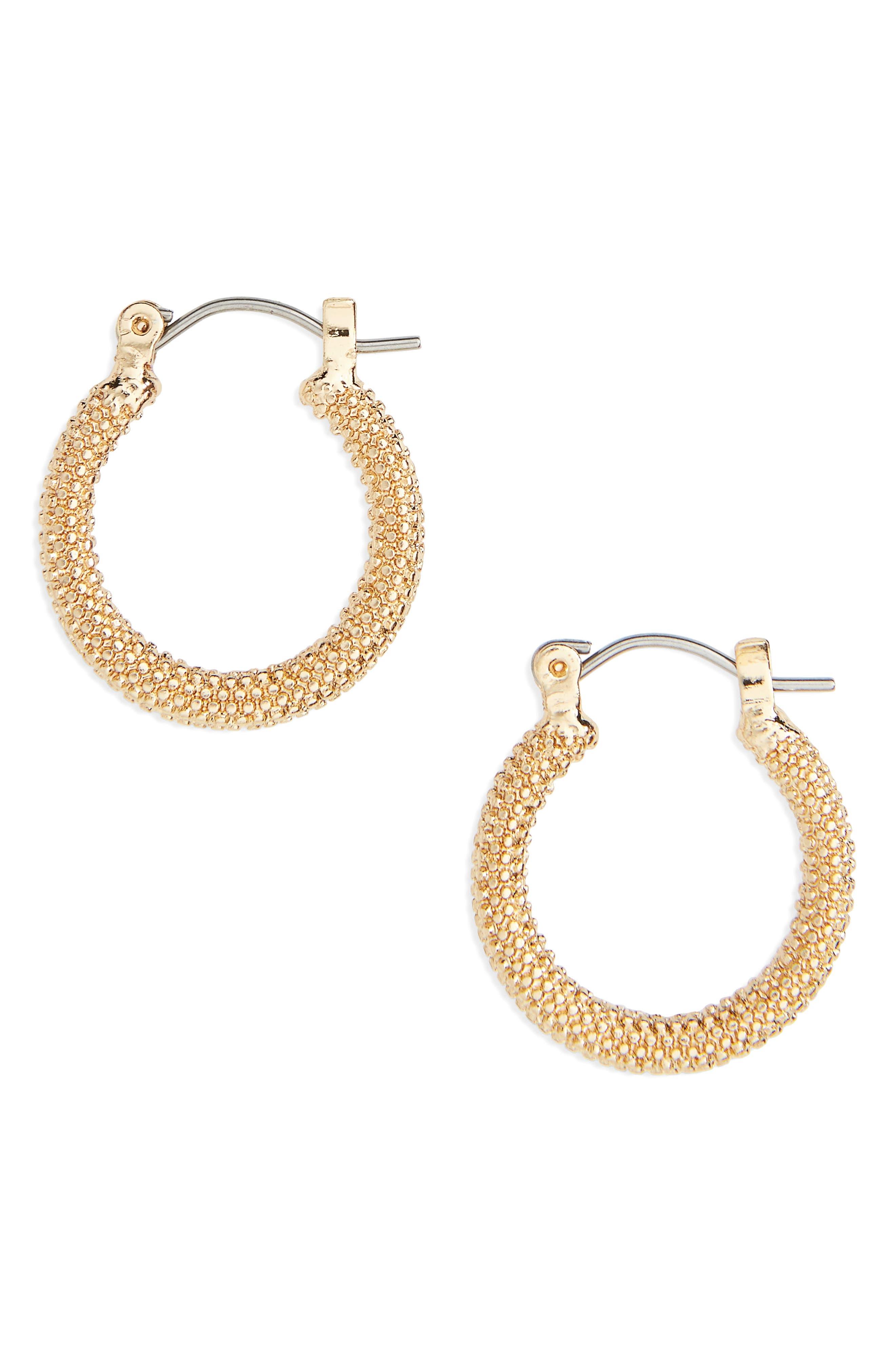 Topshop Textured Hoop Earrings