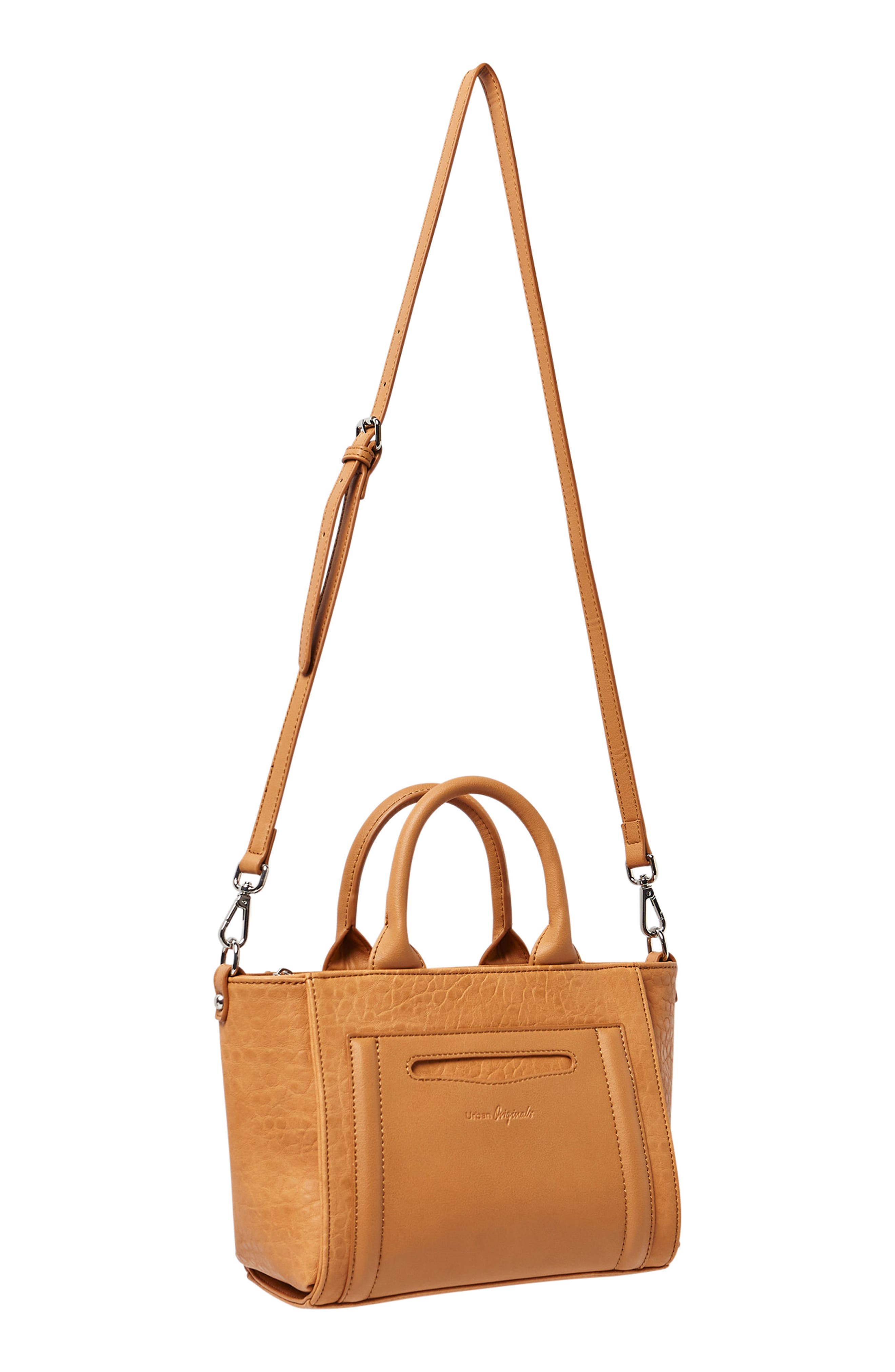 Lovely Vegan Leather Shoullder/Crossbody Tote,                             Alternate thumbnail 2, color,                             Tan