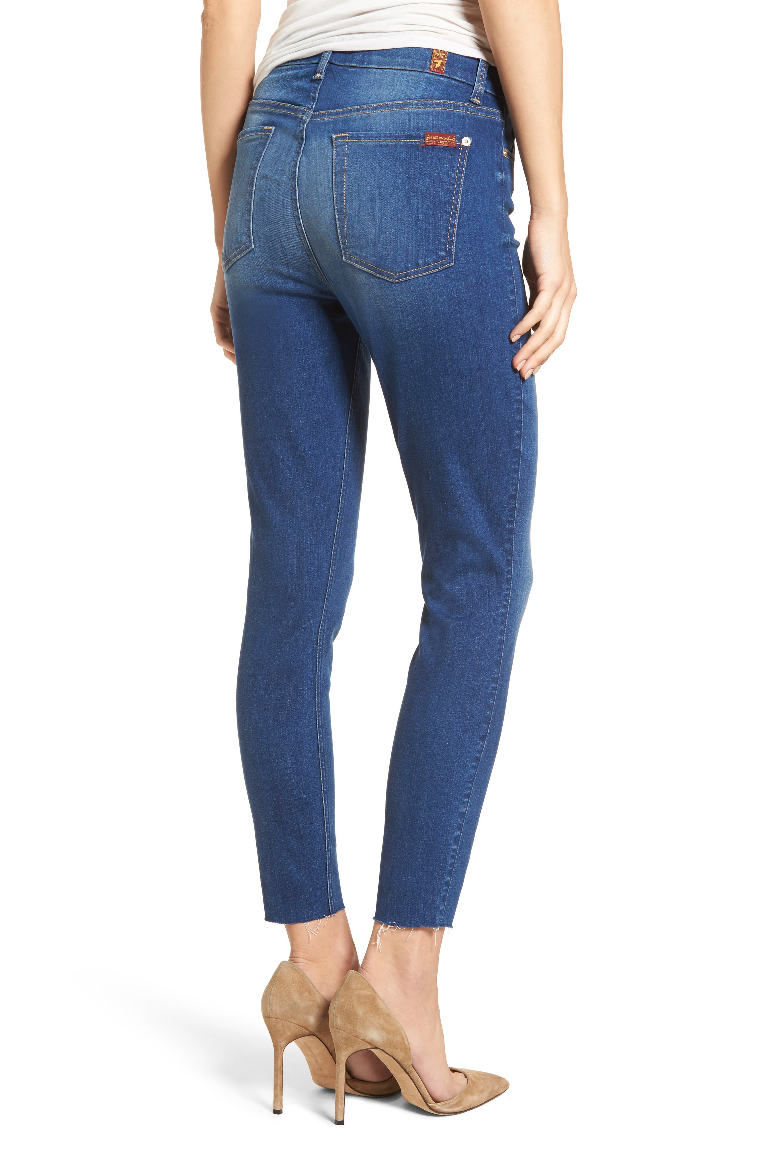 Alternate Image 2  - 7 For All Mankind® High Waist Ankle Skinny Jeans (Manhattan)