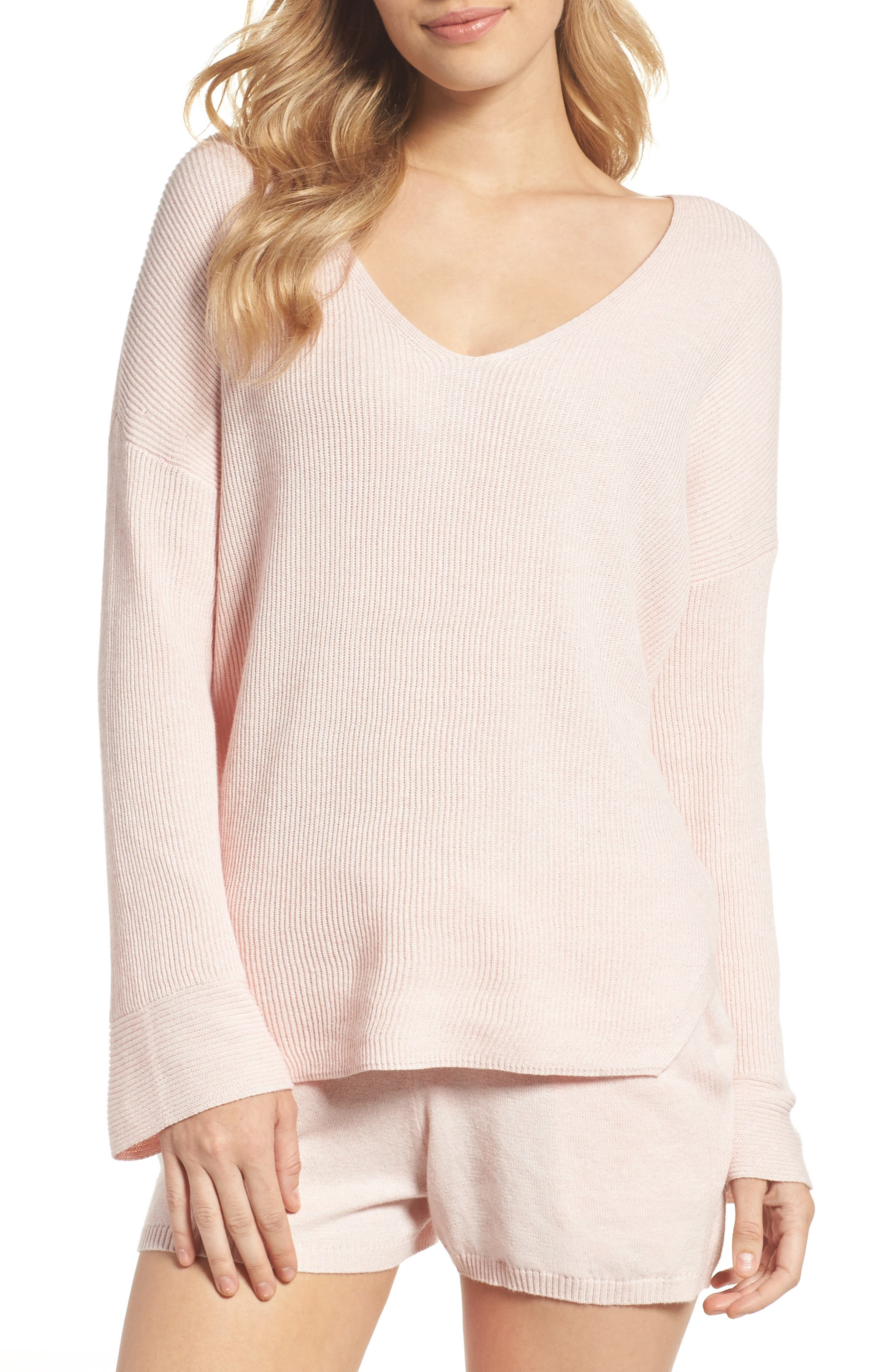 Veronica Lounge Pullover,                             Main thumbnail 1, color,                             Soft Pink