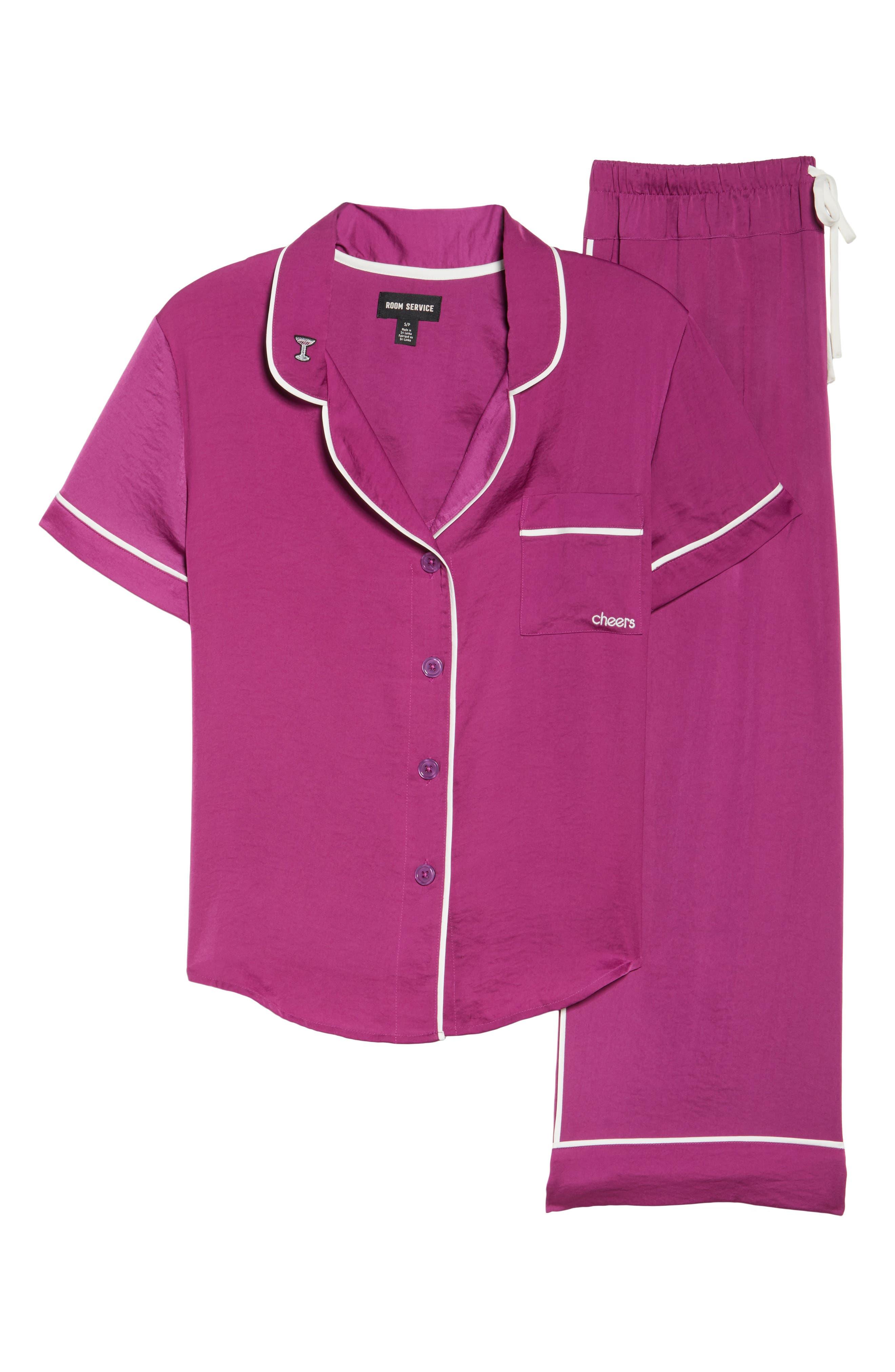 Alternate Image 6  - Room Service Satin Pajamas