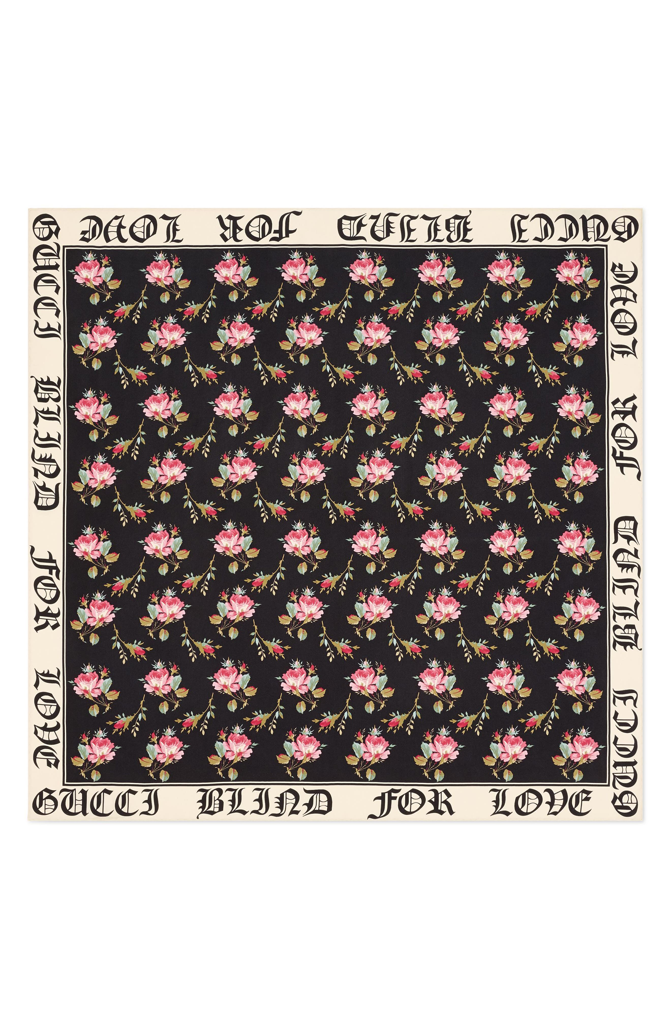 Main Image - Gucci Blind For Love Rose Foulard Scarf