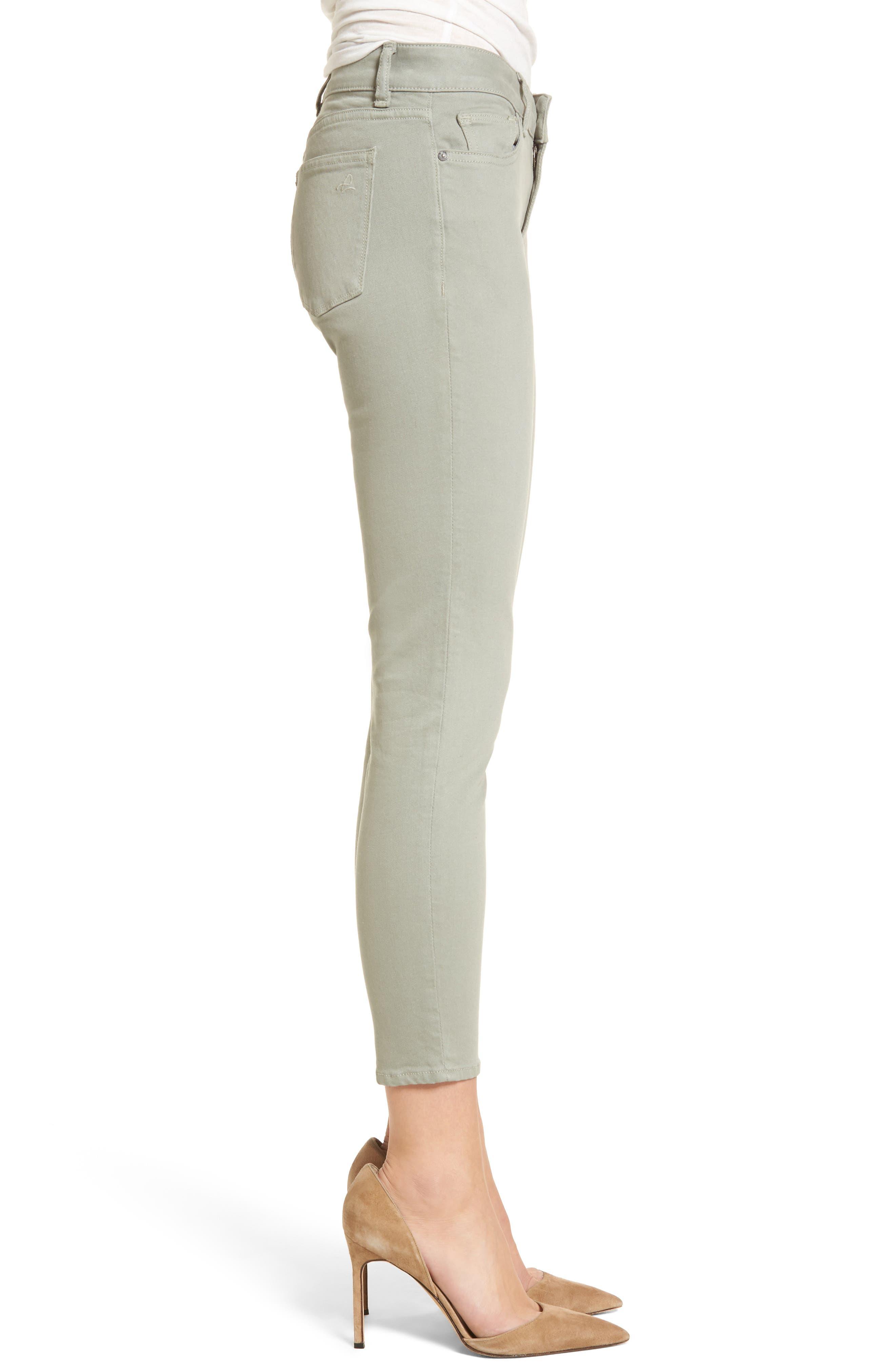 Florence Instasculpt Crop Skinny Jeans,                             Alternate thumbnail 3, color,                             Grove
