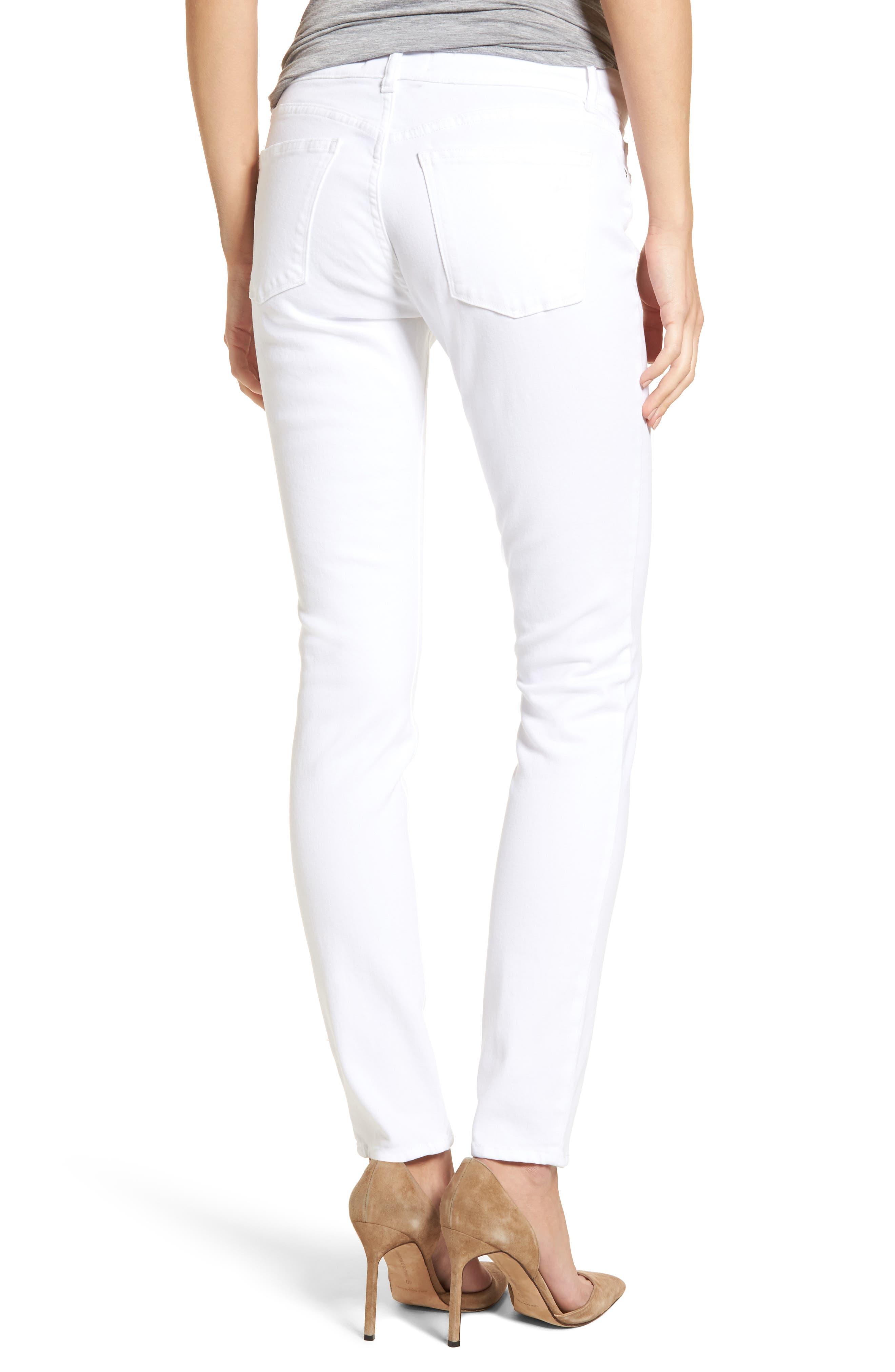 Alternate Image 2  - DL1961 Florence Skinny Jeans (Porcelain)