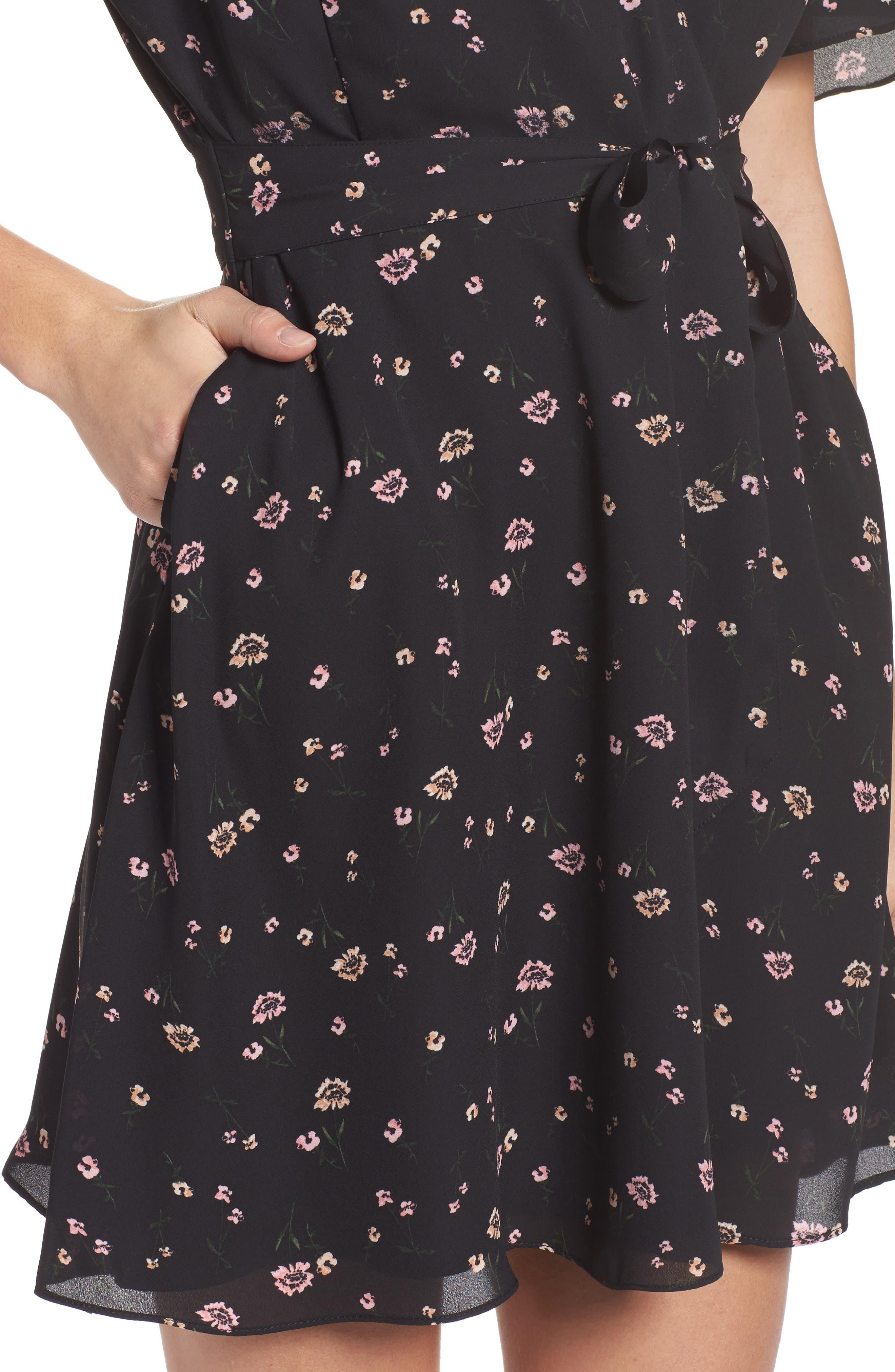 Lettie Dress,                             Alternate thumbnail 4, color,                             Black