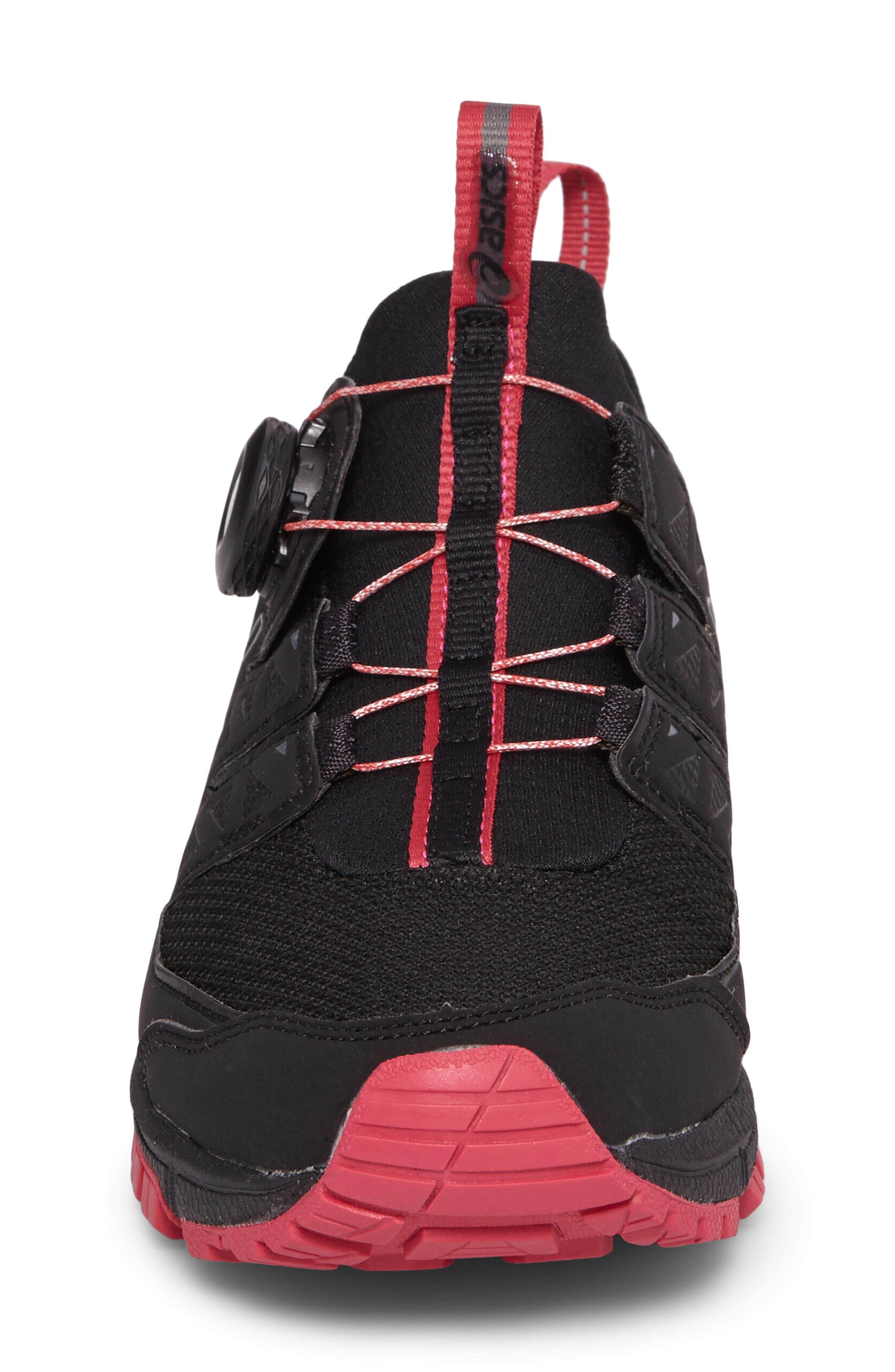 GEL-Fujirado Running Shoe,                             Alternate thumbnail 4, color,                             Black/ Carbon/ Cosmo Pink