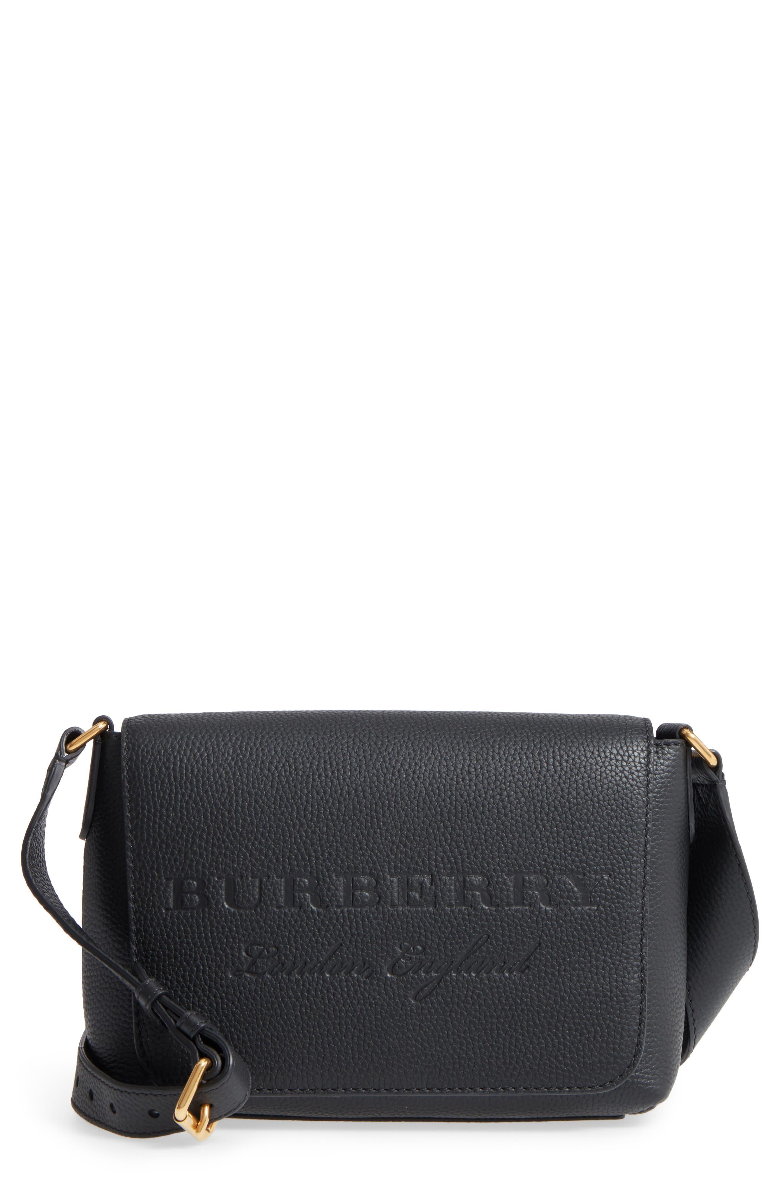 Main Image - Burberry Small Burleigh Leather Crossbody Bag