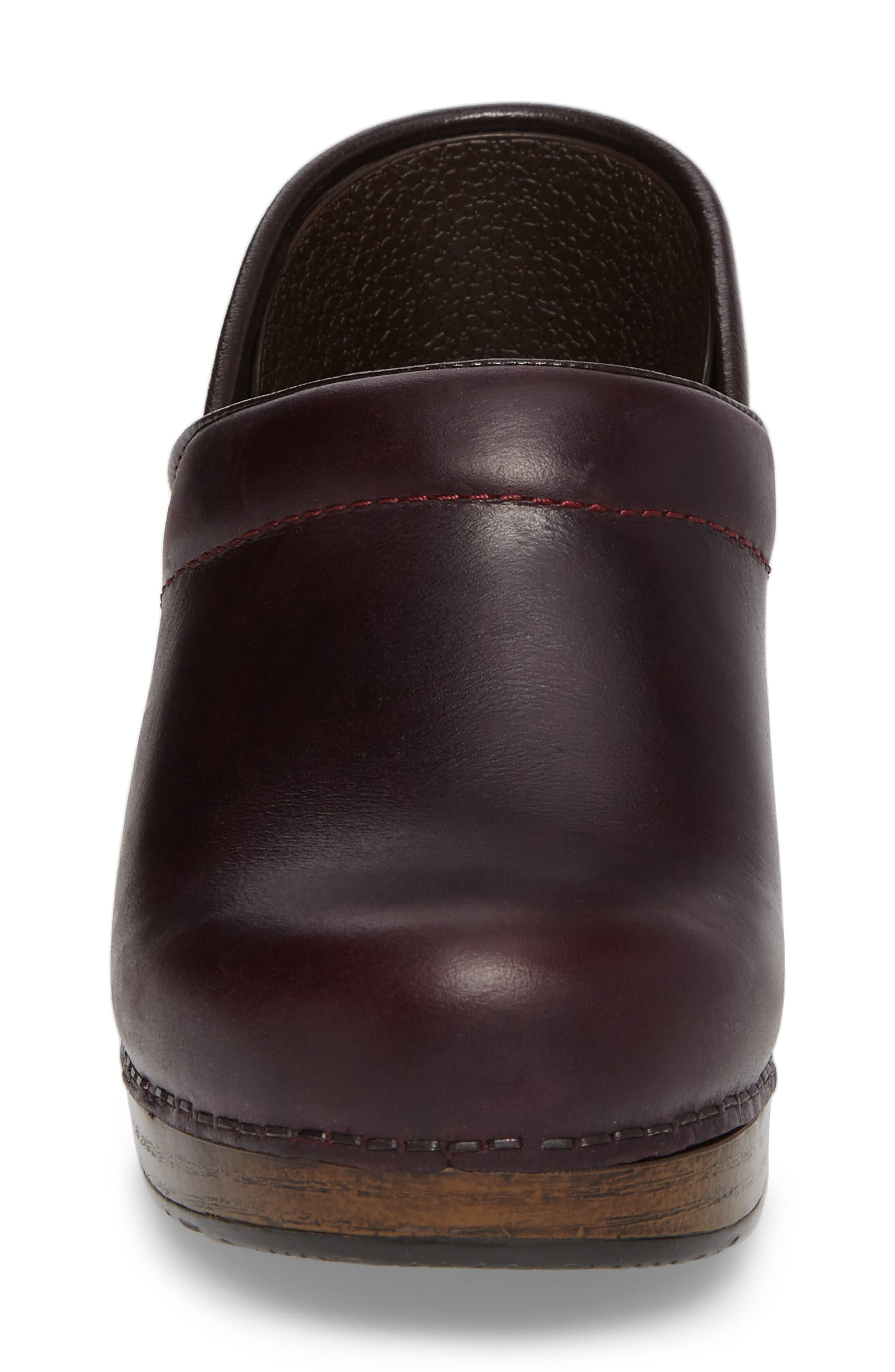 'Professional' Clog,                             Alternate thumbnail 4, color,                             Cordovan Leather