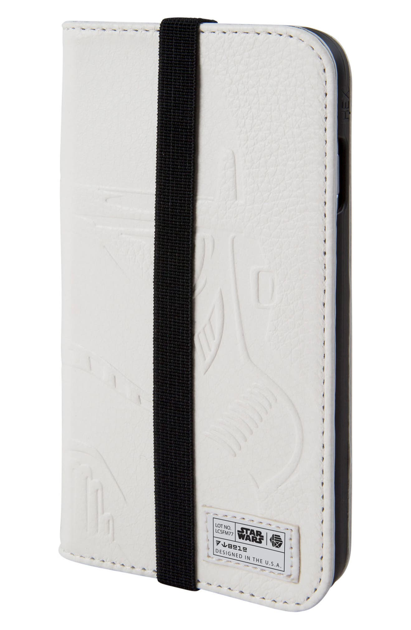 Stormtrooper iPhone 6/6s/7/8 Wallet Case,                             Main thumbnail 1, color,                             White