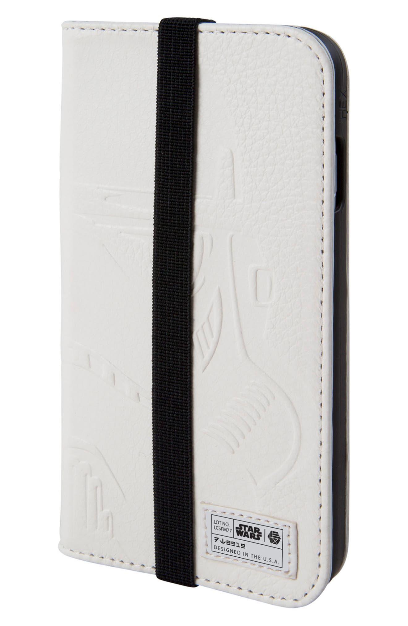 Main Image - HEX Stormtrooper iPhone 6/6s/7/8 Wallet Case