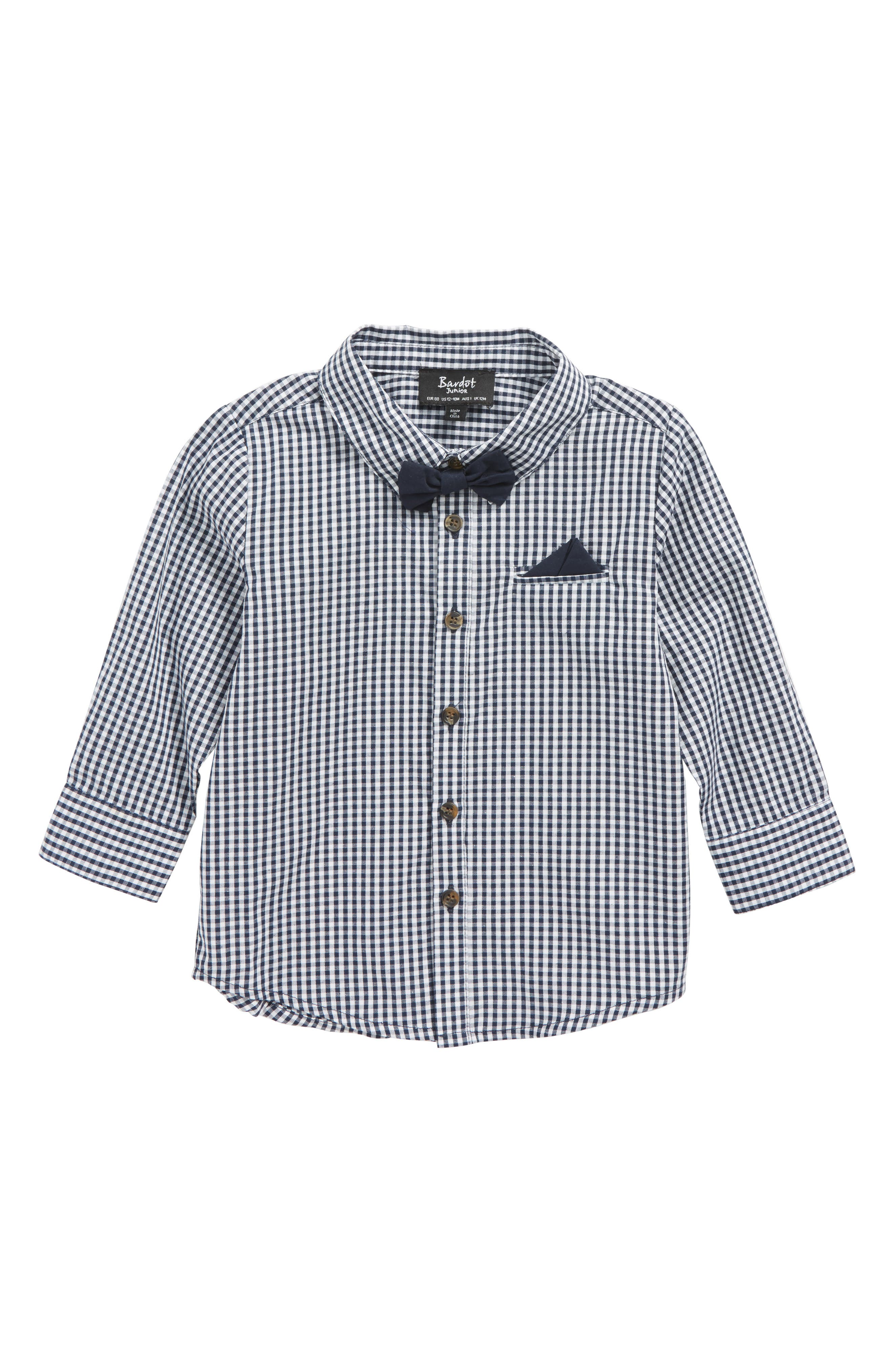 Bardot Junior Gingham Checks Shirt (Baby Boys & Toddler Boys)