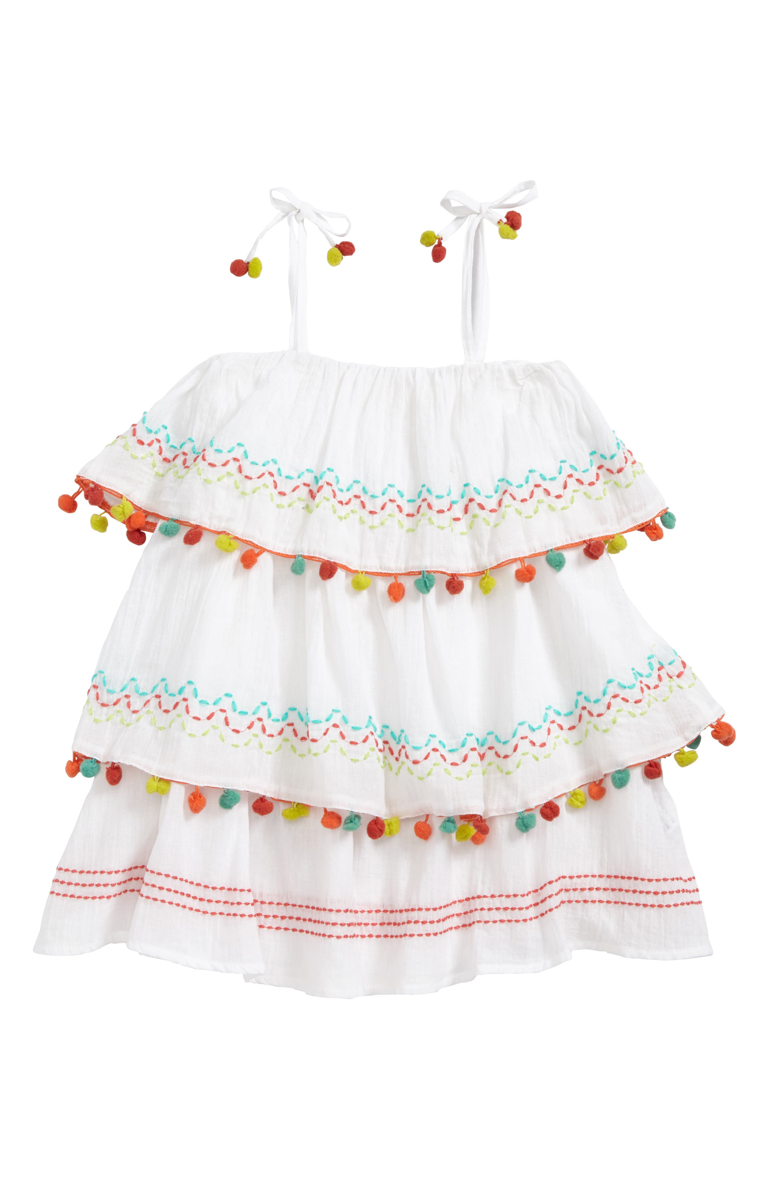 Alternate Image 1 Selected - OndadeMar Amazonia Cover-Up Dress (Little Girls & Big Girls)