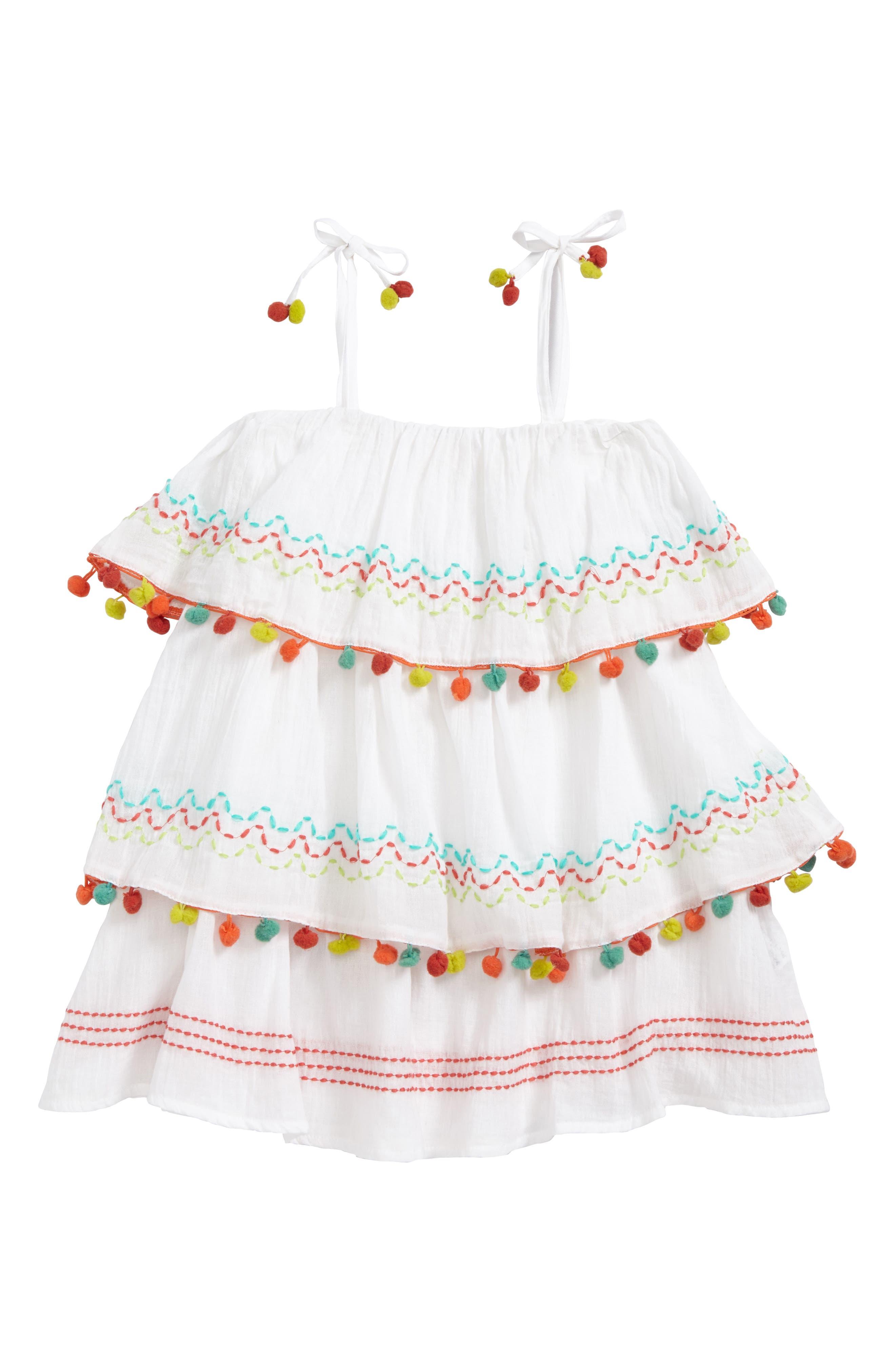 Main Image - OndadeMar Amazonia Cover-Up Dress (Little Girls & Big Girls)