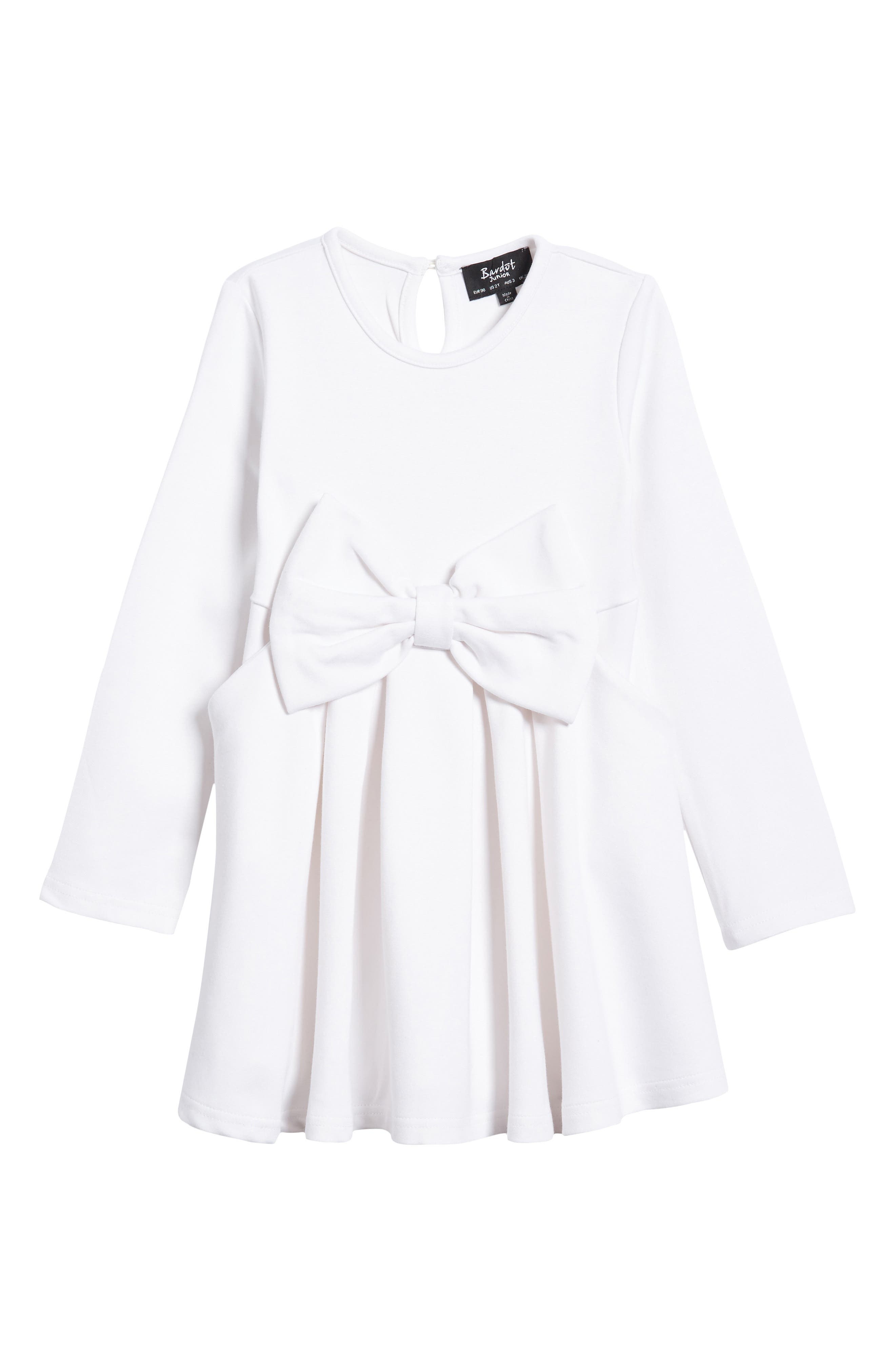 Bardot Junior Ponti Bow Dress (Baby Girls & Toddler Girls)
