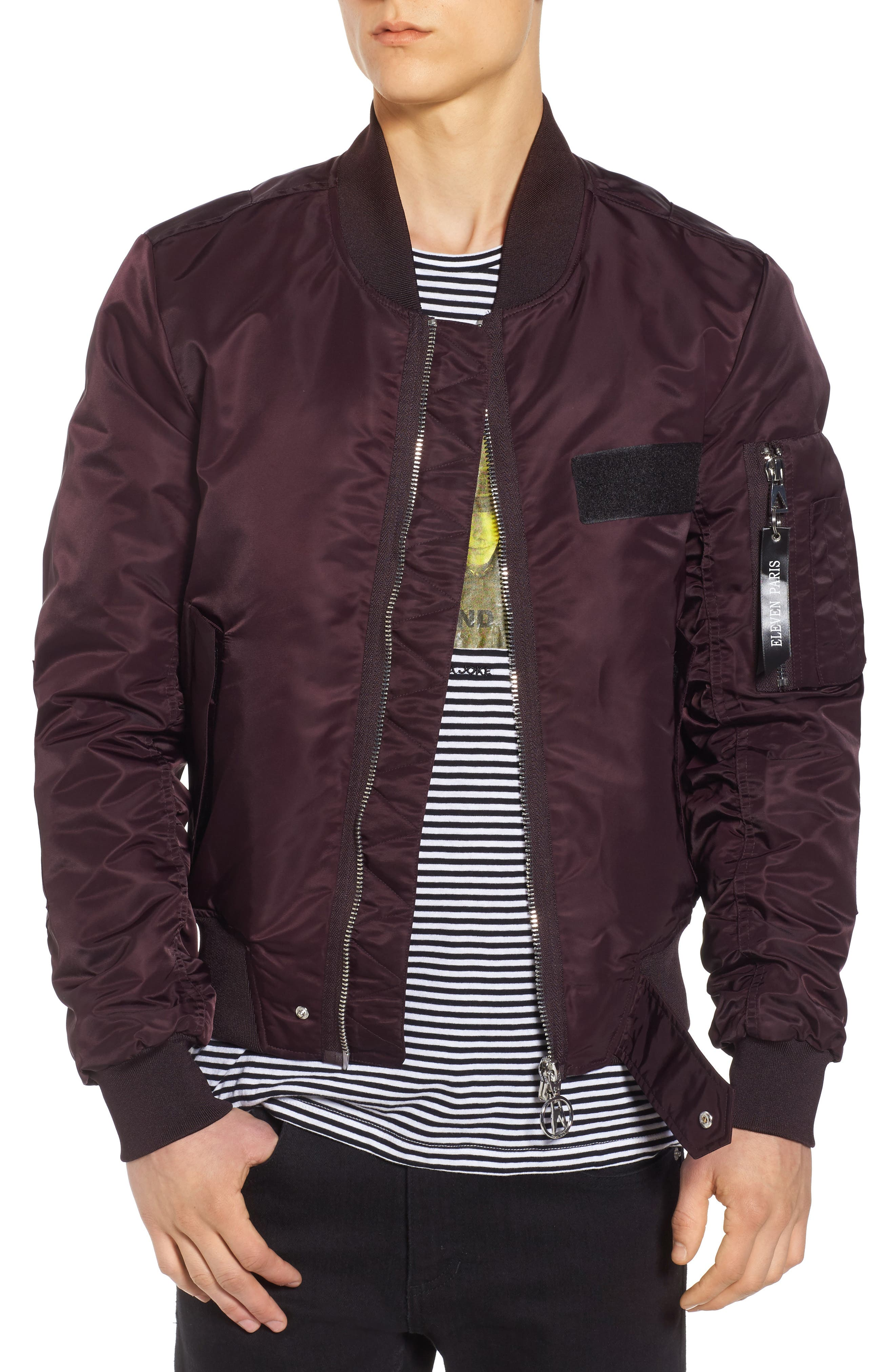 Nuxy Bomber Jacket,                         Main,                         color, Fudge