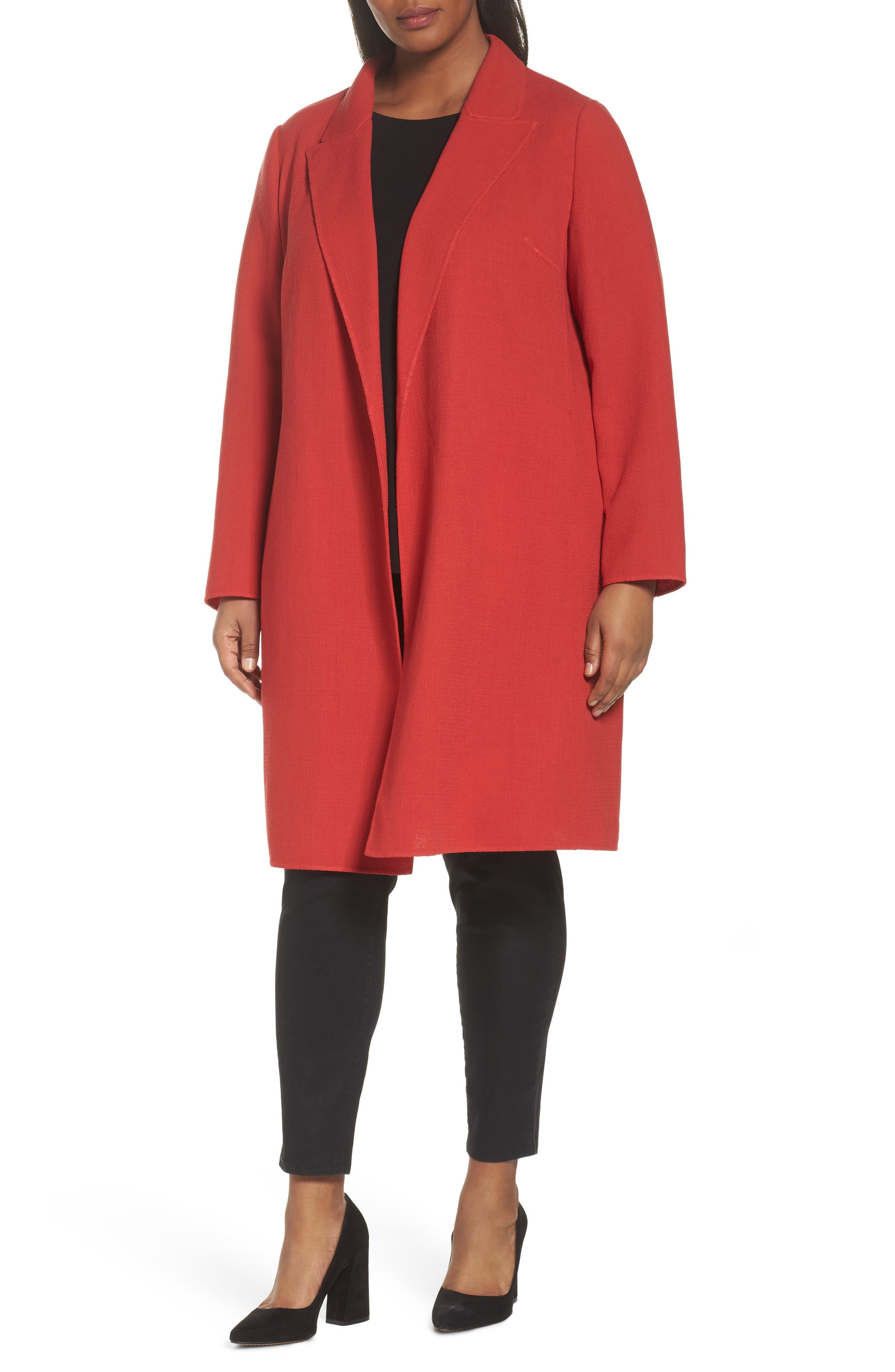 Carmelle Nouveau Crepe Jacket,                         Main,                         color, Persimmon