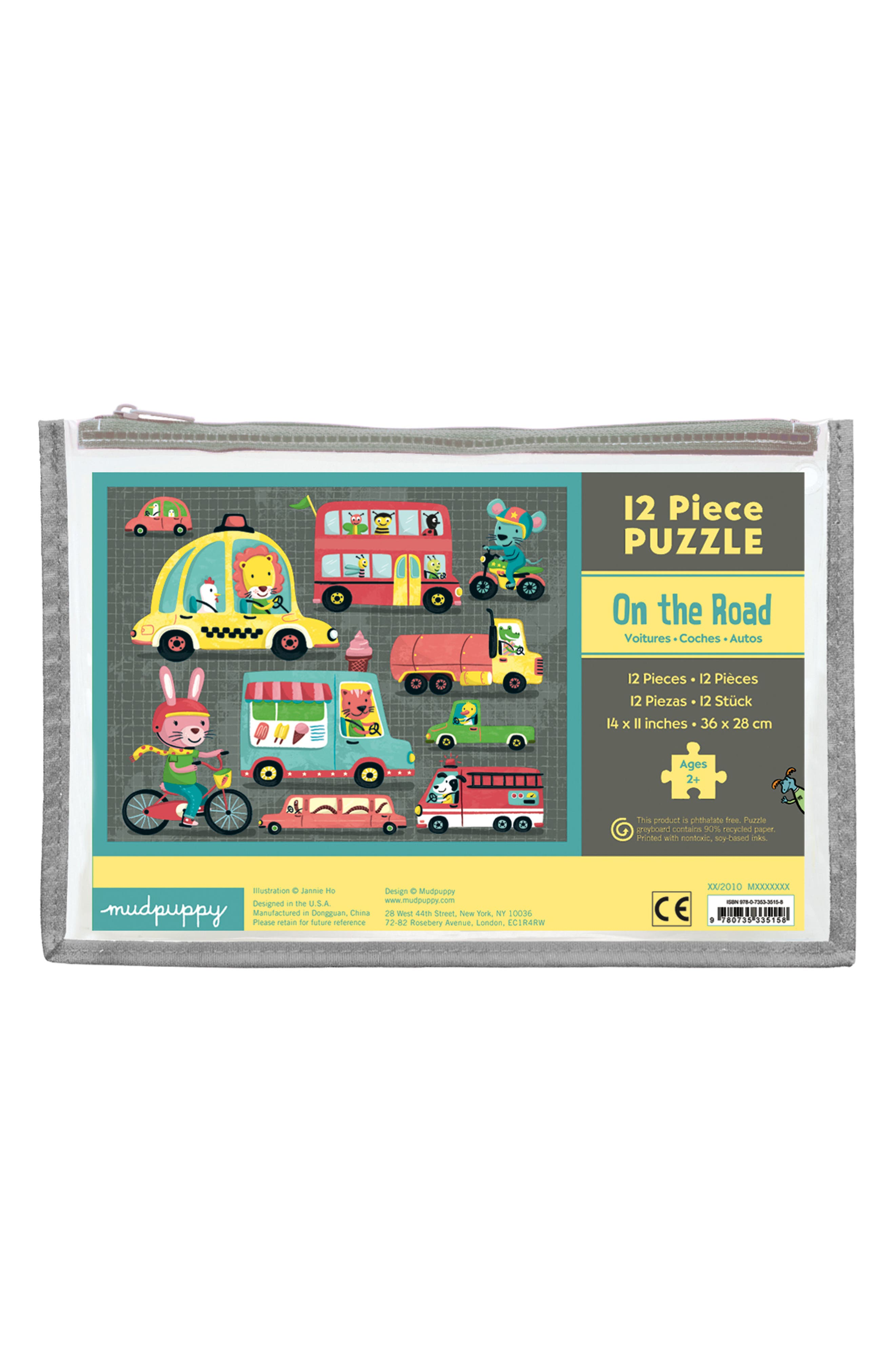 Mudpuppy On the Road Puzzle Pouch 12-Piece Puzzle