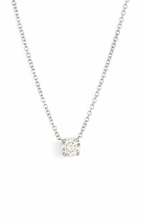 Womens diamond necklaces nordstrom bony levy liora solitaire diamond pendant necklace nordstrom exclusive aloadofball Image collections