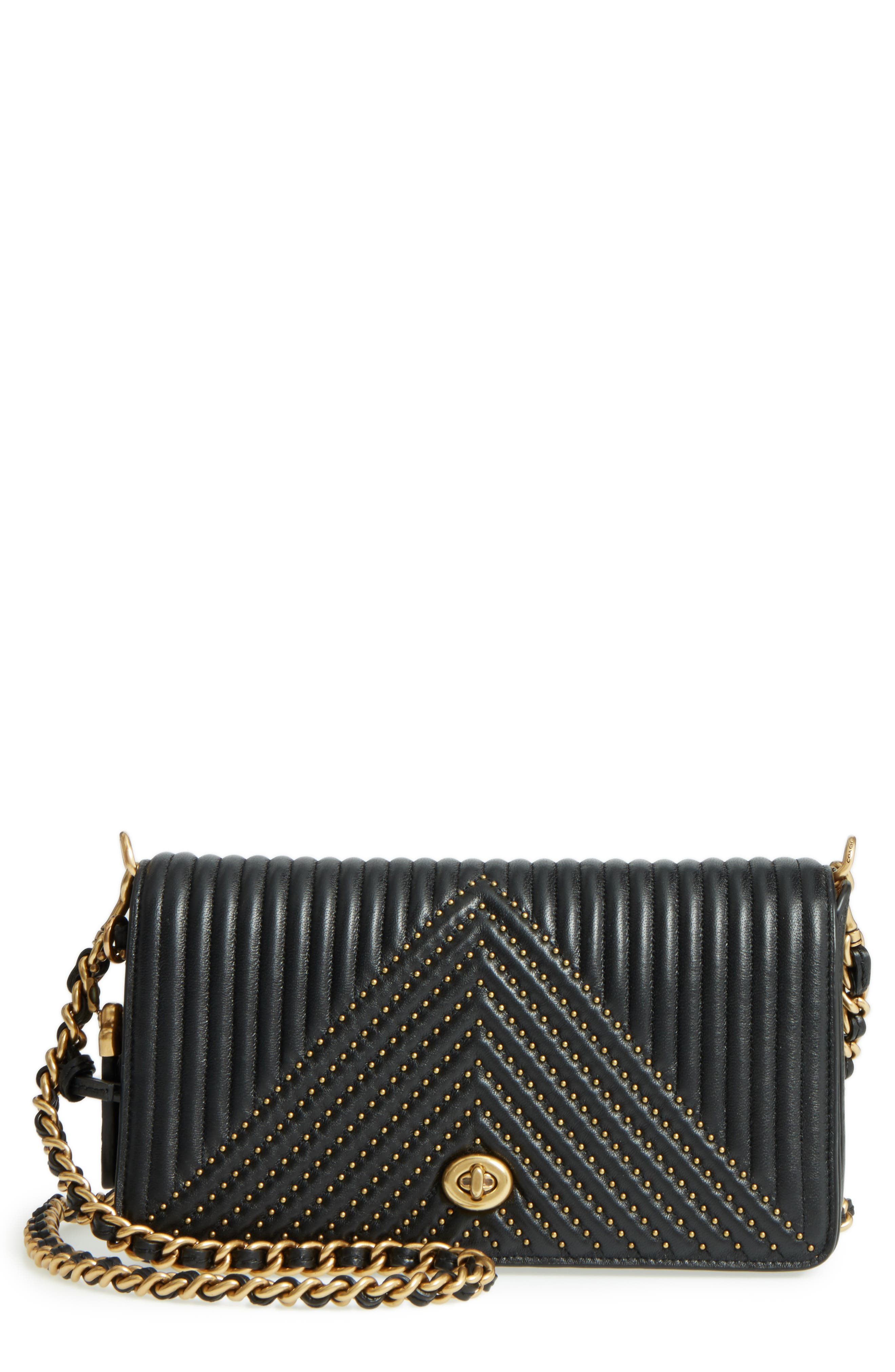 COACH 1941 Rivet Dinky Quilted Leather Crossbody Bag