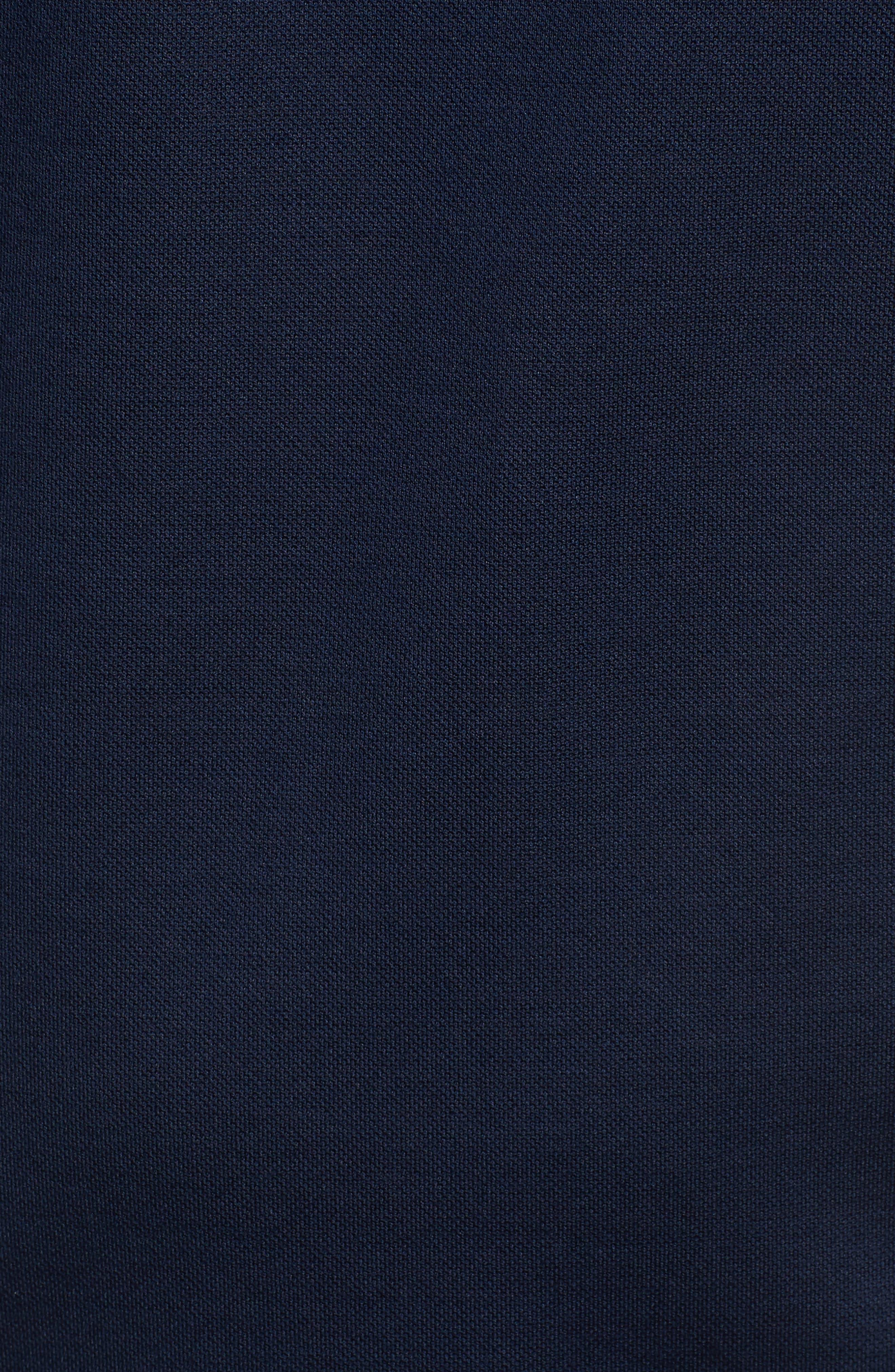 Paul&Shark Stripe Trim Piqué Polo,                             Alternate thumbnail 5, color,                             Navy