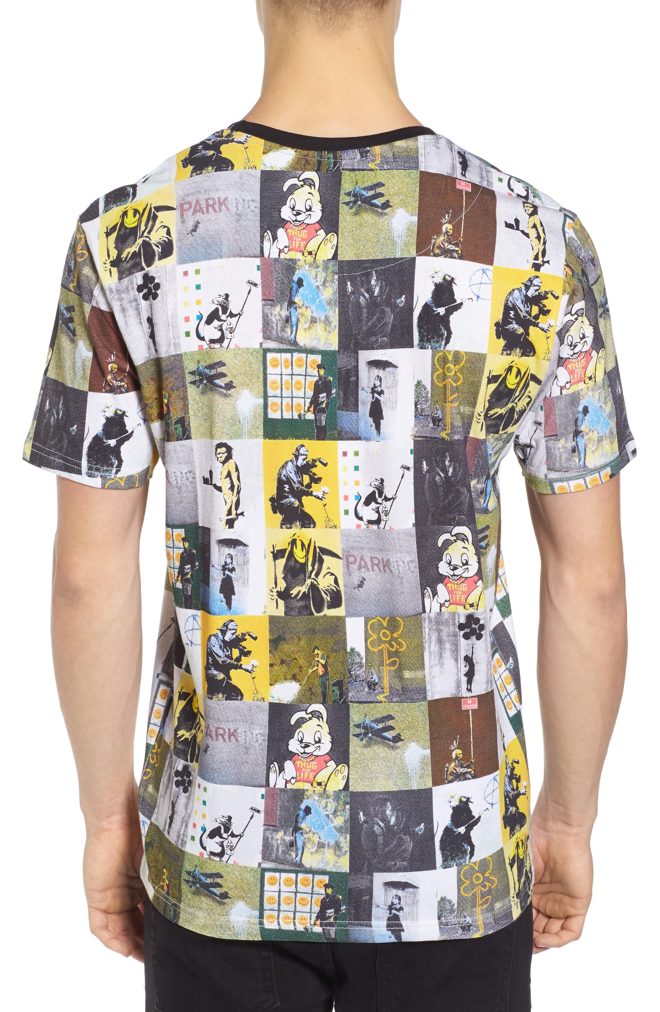 Collage T-Shirt,                             Alternate thumbnail 2, color,                             Black