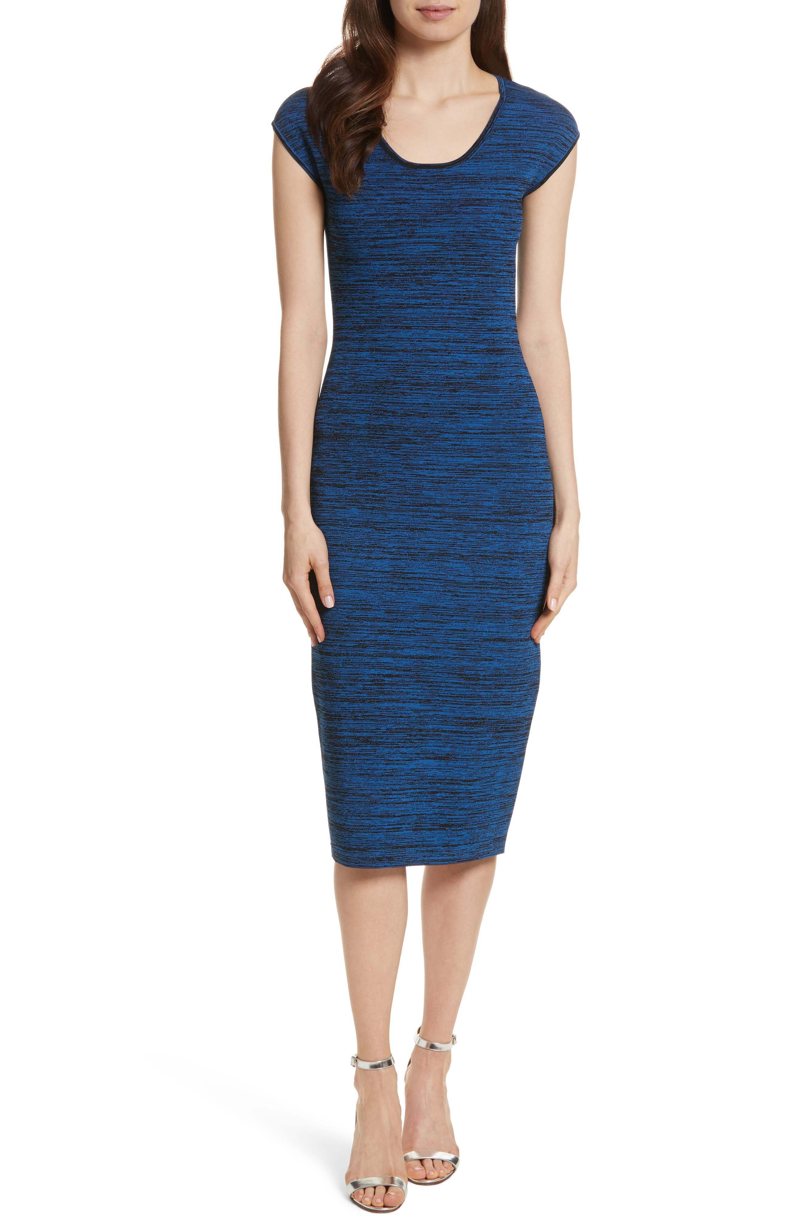 Diane von Furstenberg Sweater Dress,                         Main,                         color, Cove Multi