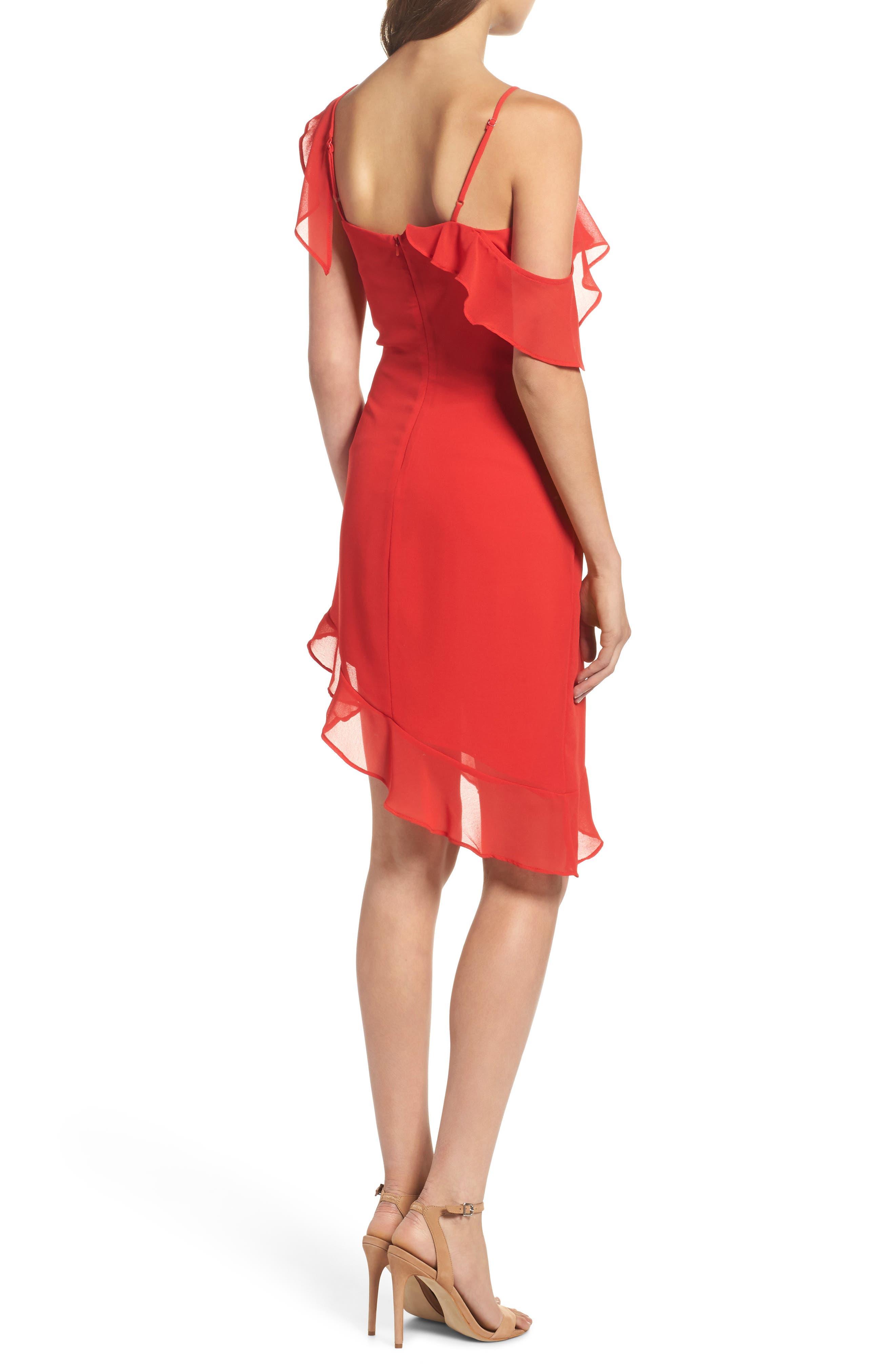 Alternate Image 2  - Bardot Ivie Asymmetrical Sheath Dress