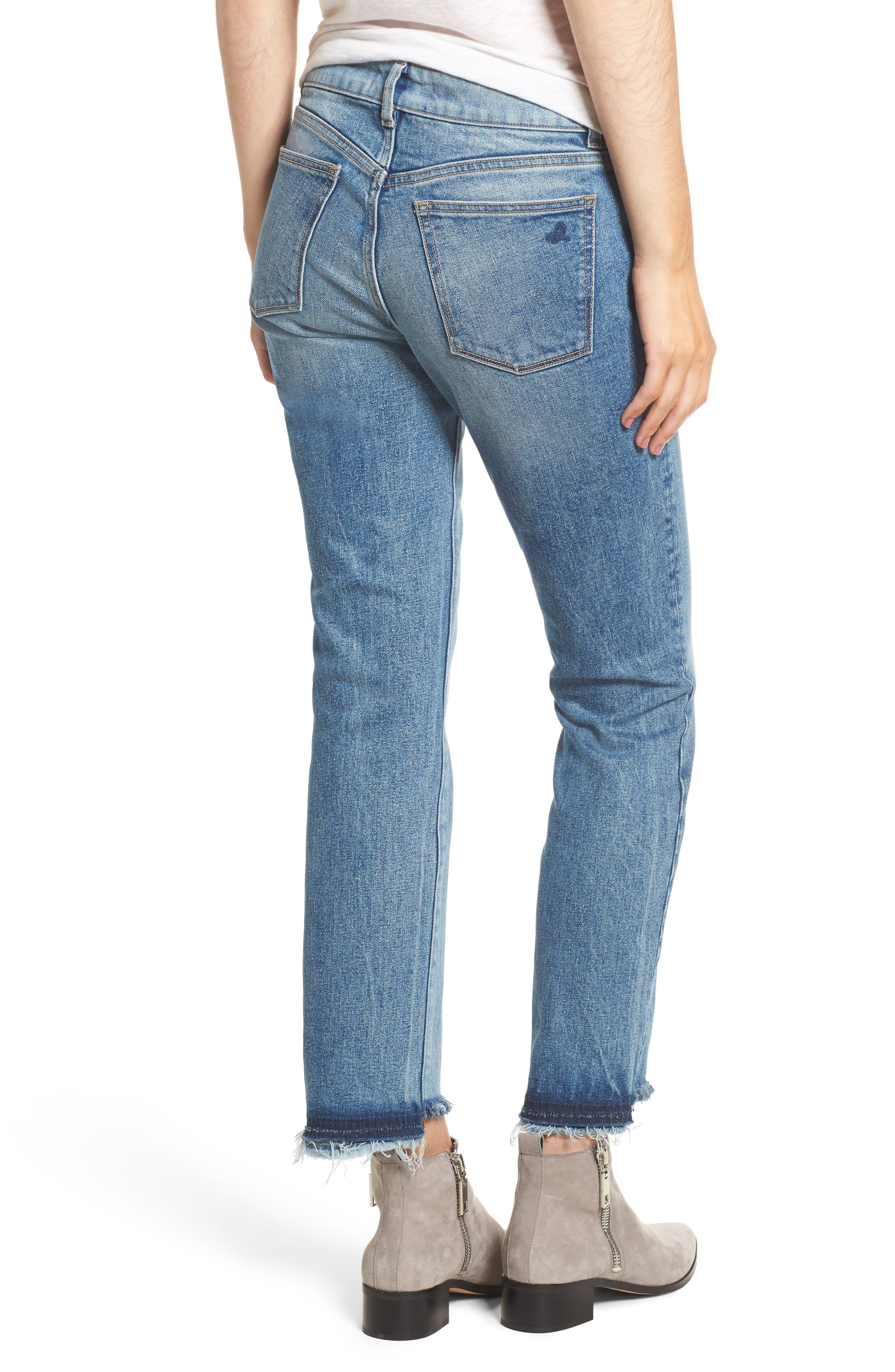 Mara Step Hem Ankle Jeans,                             Alternate thumbnail 2, color,                             Brookside