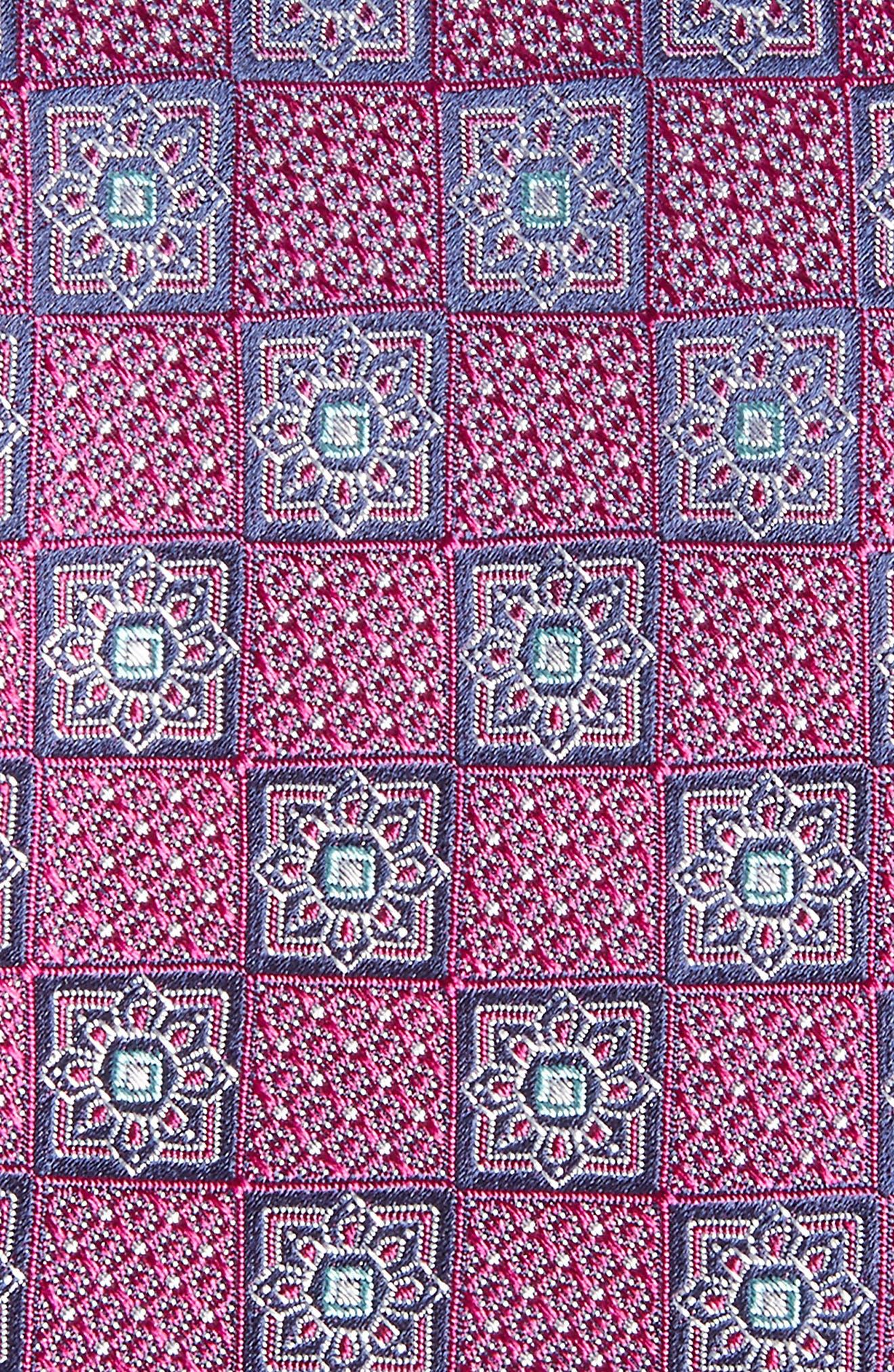Settala Medallion Silk Tie,                             Alternate thumbnail 2, color,                             Magenta
