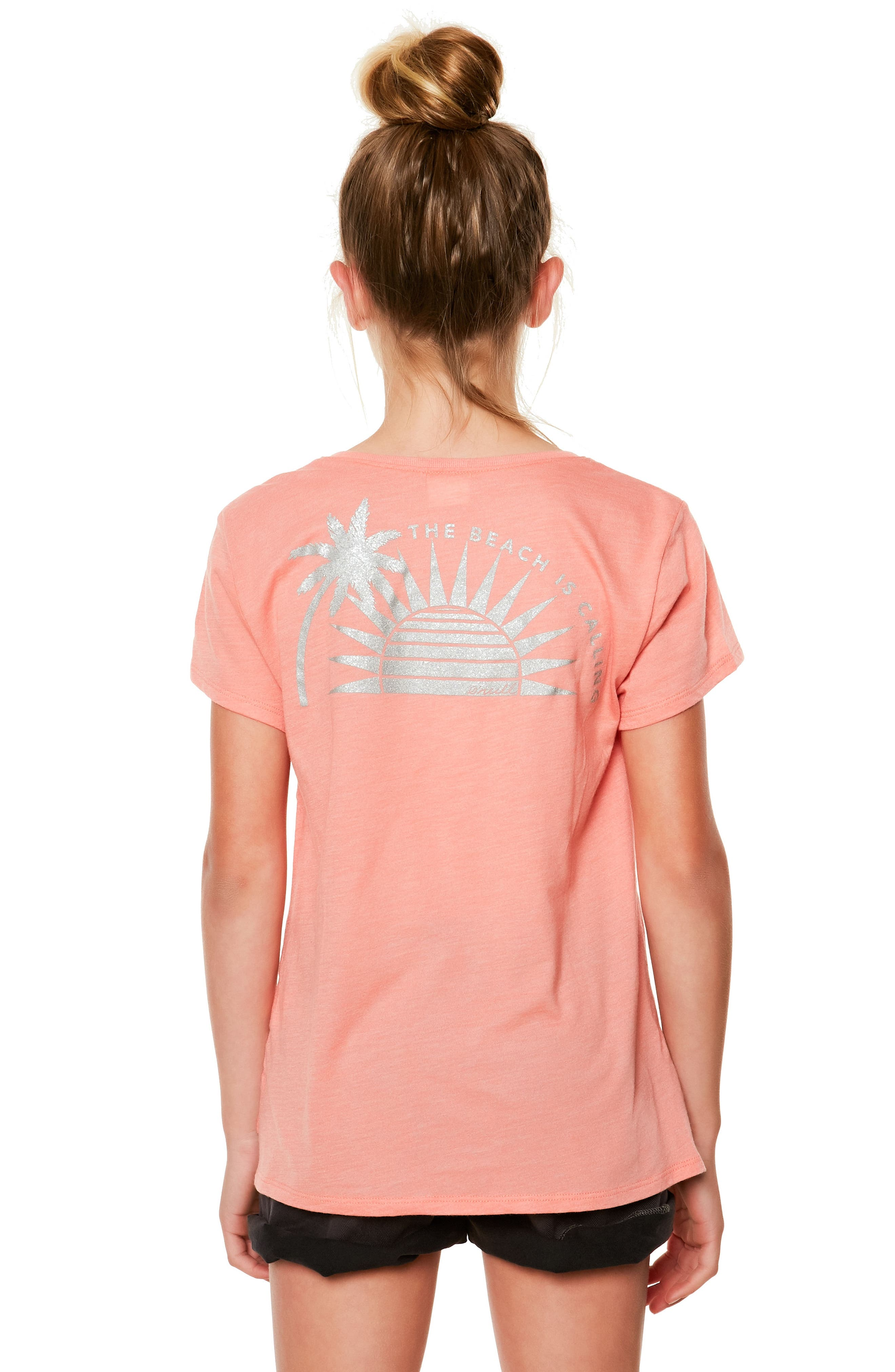 Sunny Side Graphic Tee,                             Alternate thumbnail 3, color,                             Terracotta- Cla