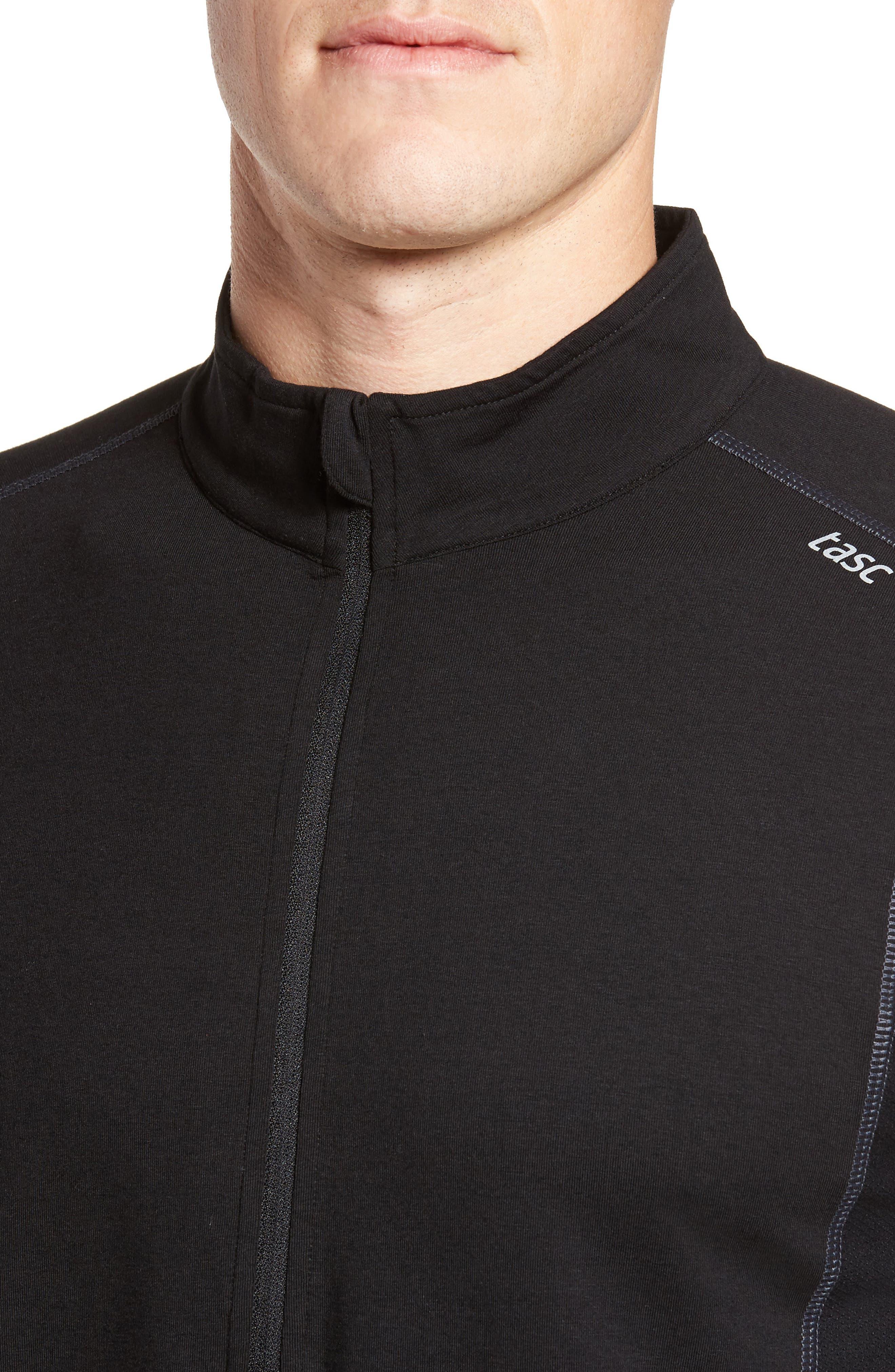 Charge Quarter-Zip Pullover,                             Alternate thumbnail 4, color,                             Black/ Gunmetal