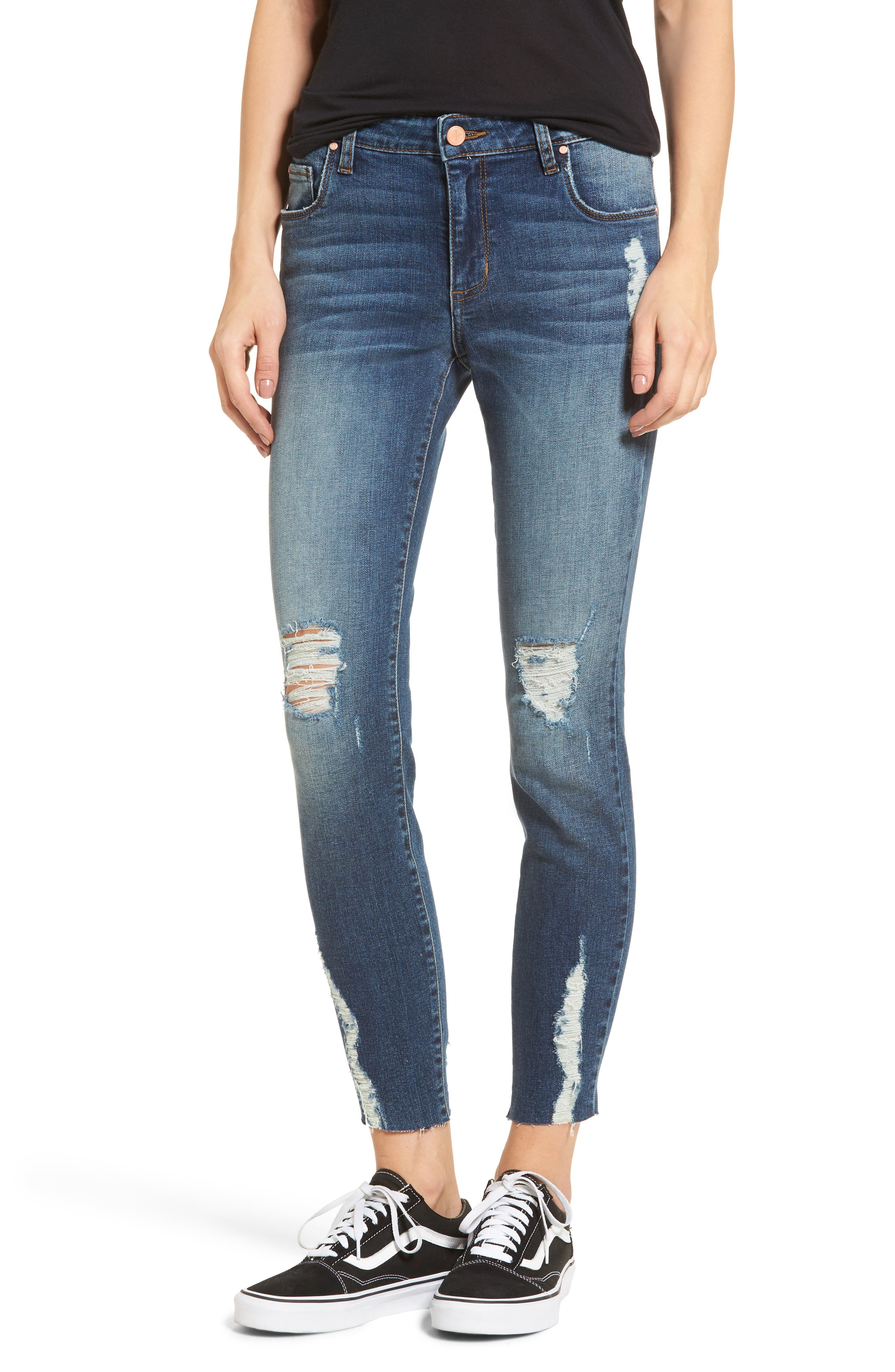 Decon Distressed Skinny Jeans,                             Main thumbnail 1, color,                             Vintage